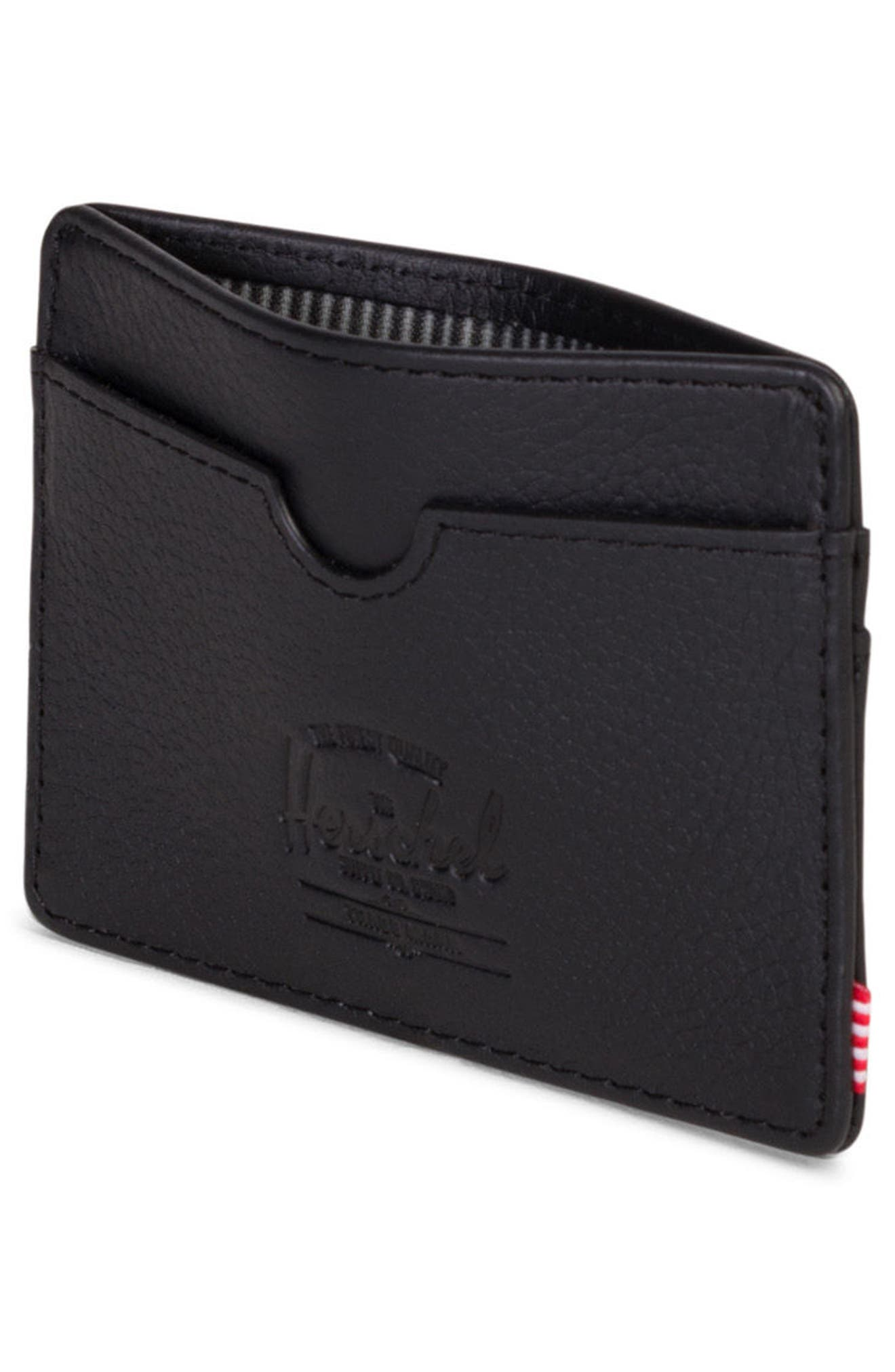 Charlie Leather Card Case,                             Alternate thumbnail 2, color,                             005