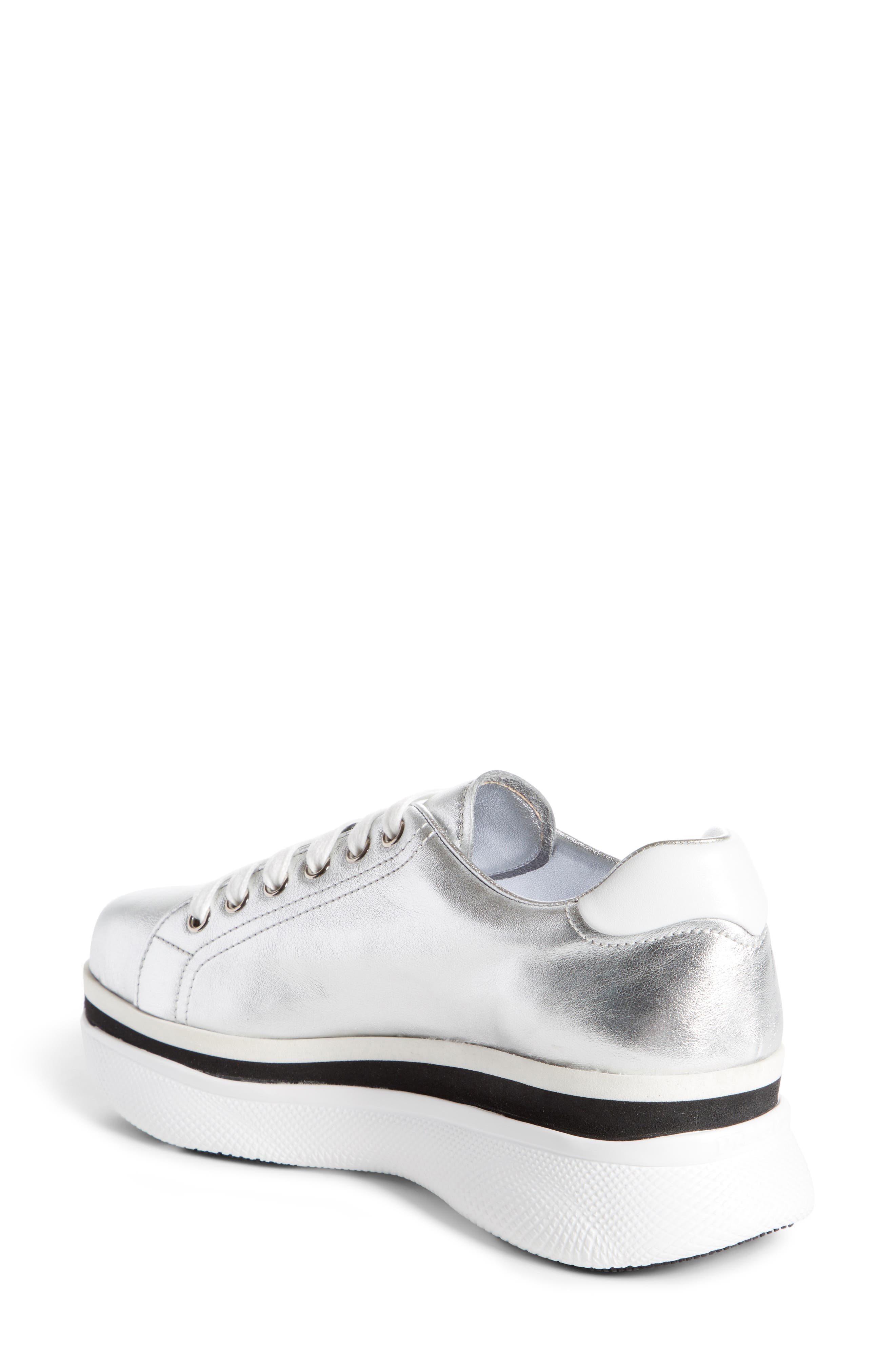 Platform Lace-Up Sneaker,                             Alternate thumbnail 3, color,