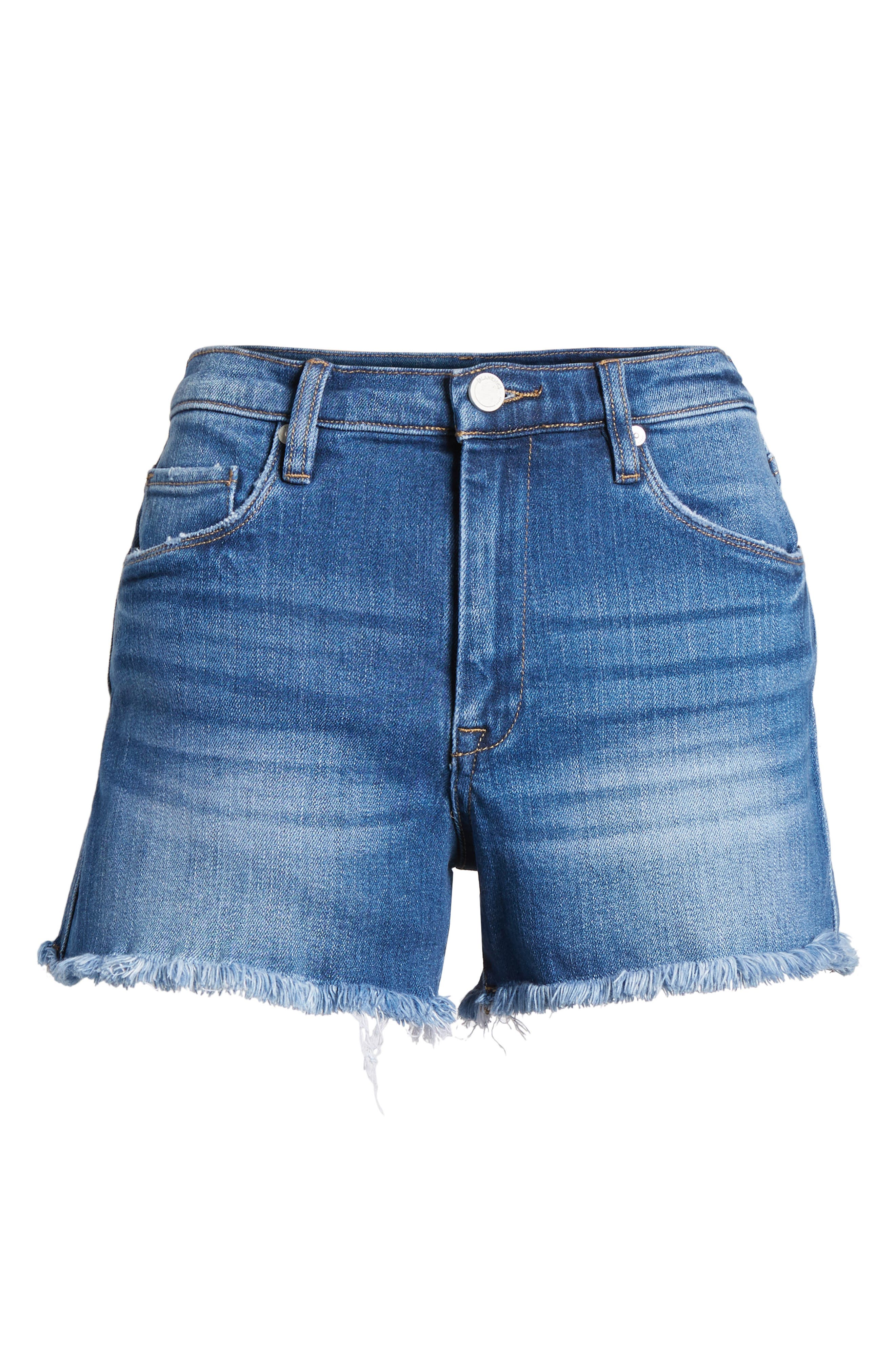 The Lenox High Waist Cutoff Denim Shorts,                             Alternate thumbnail 7, color,                             400