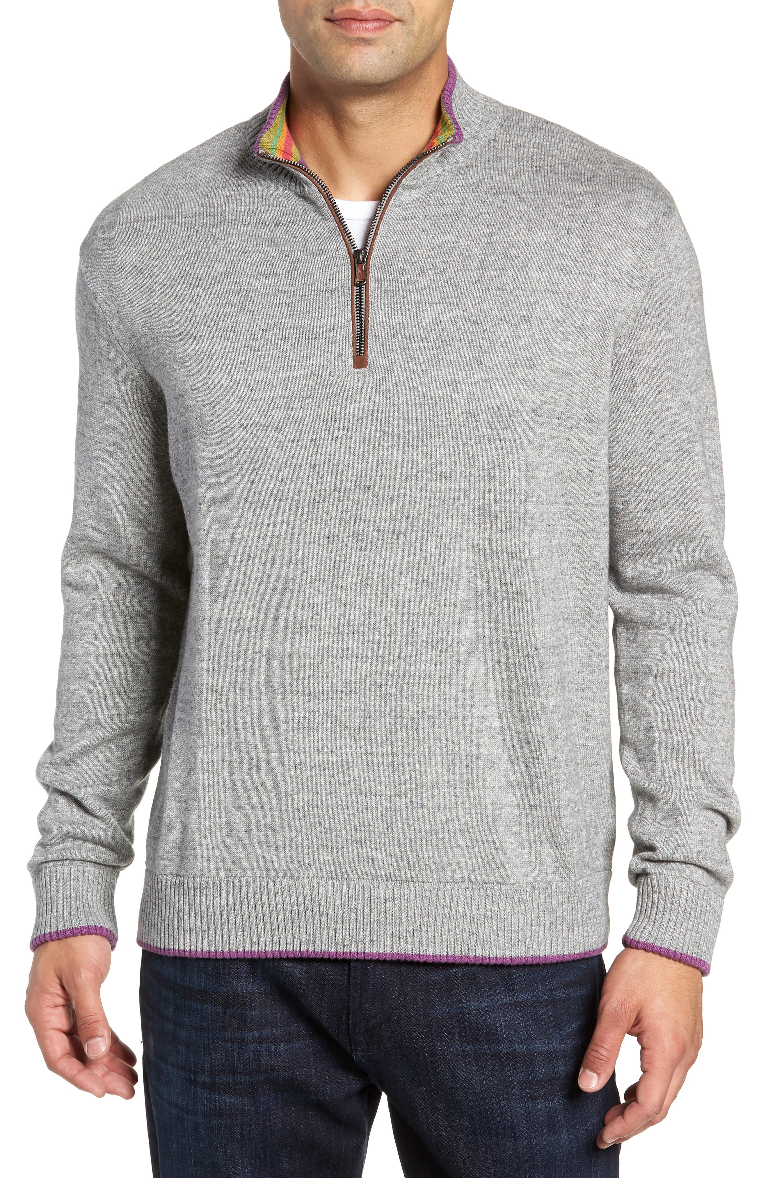 Cavalry Classic Fit Quarter Zip Sweater,                             Main thumbnail 1, color,                             032
