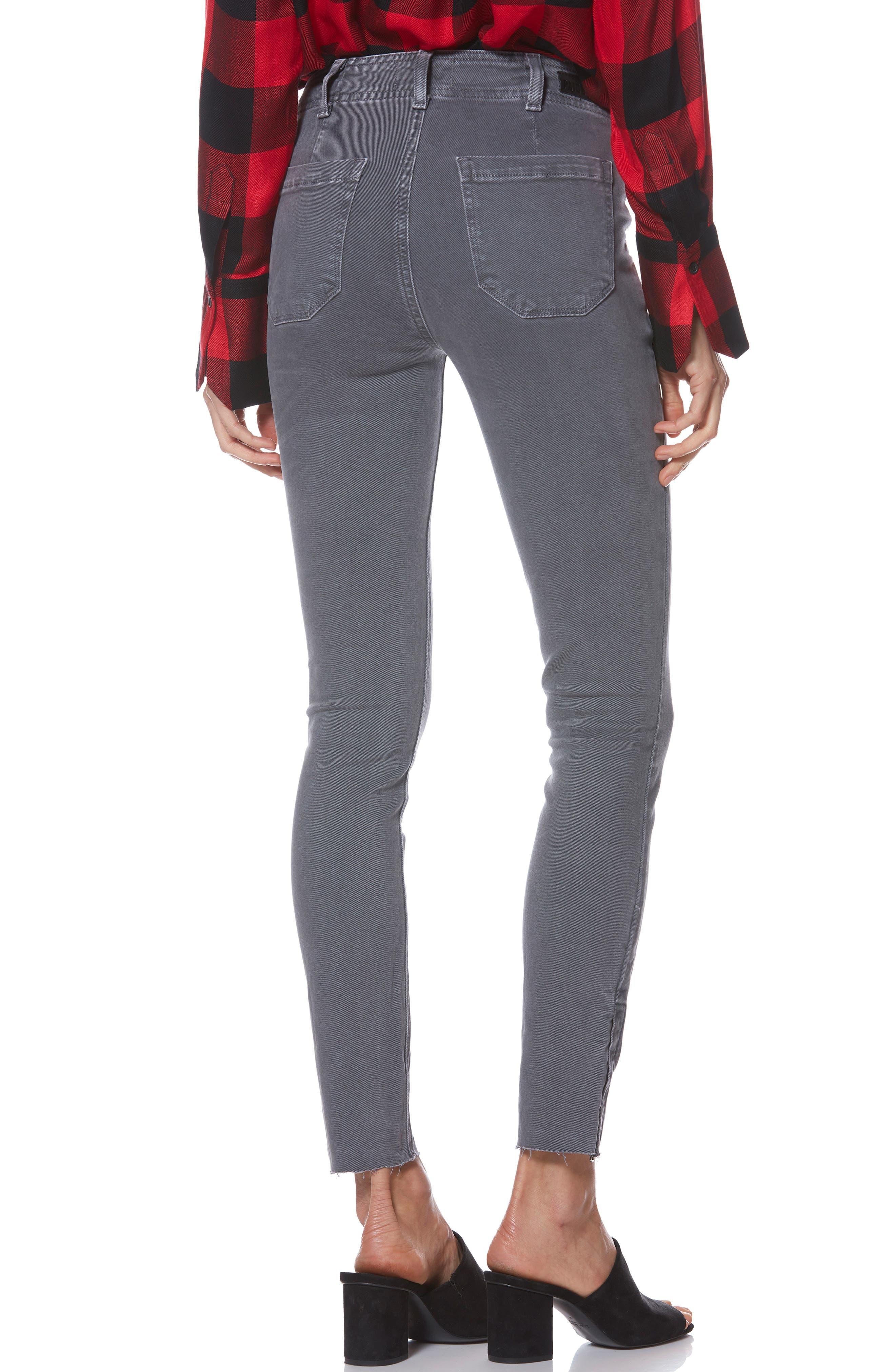 Hoxton Utilitarian High Waist Ankle Skinny Jeans,                             Alternate thumbnail 2, color,                             VINTAGE TORNADO