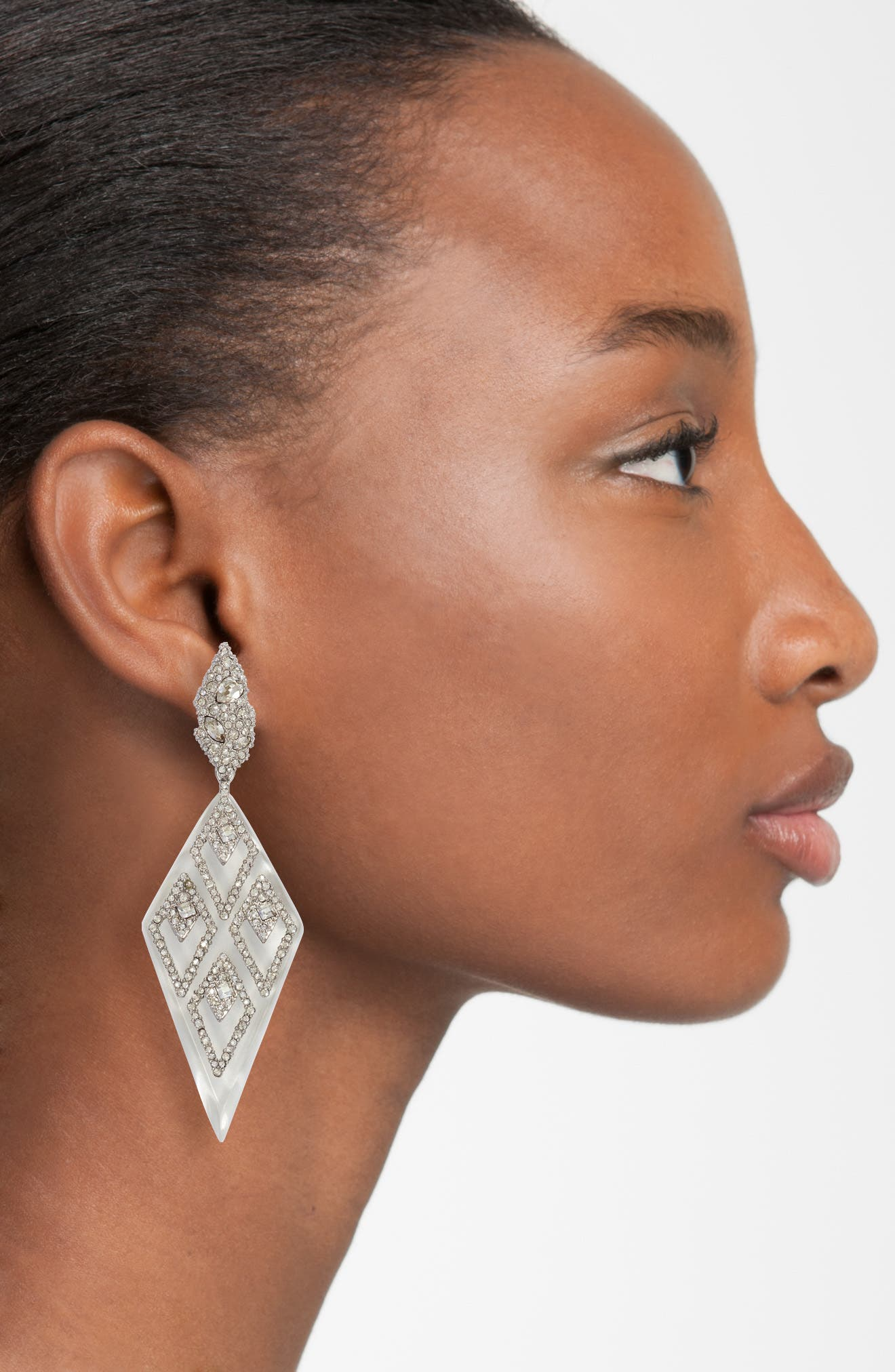 Spike Clip-On Drop Earrings,                             Alternate thumbnail 2, color,                             040