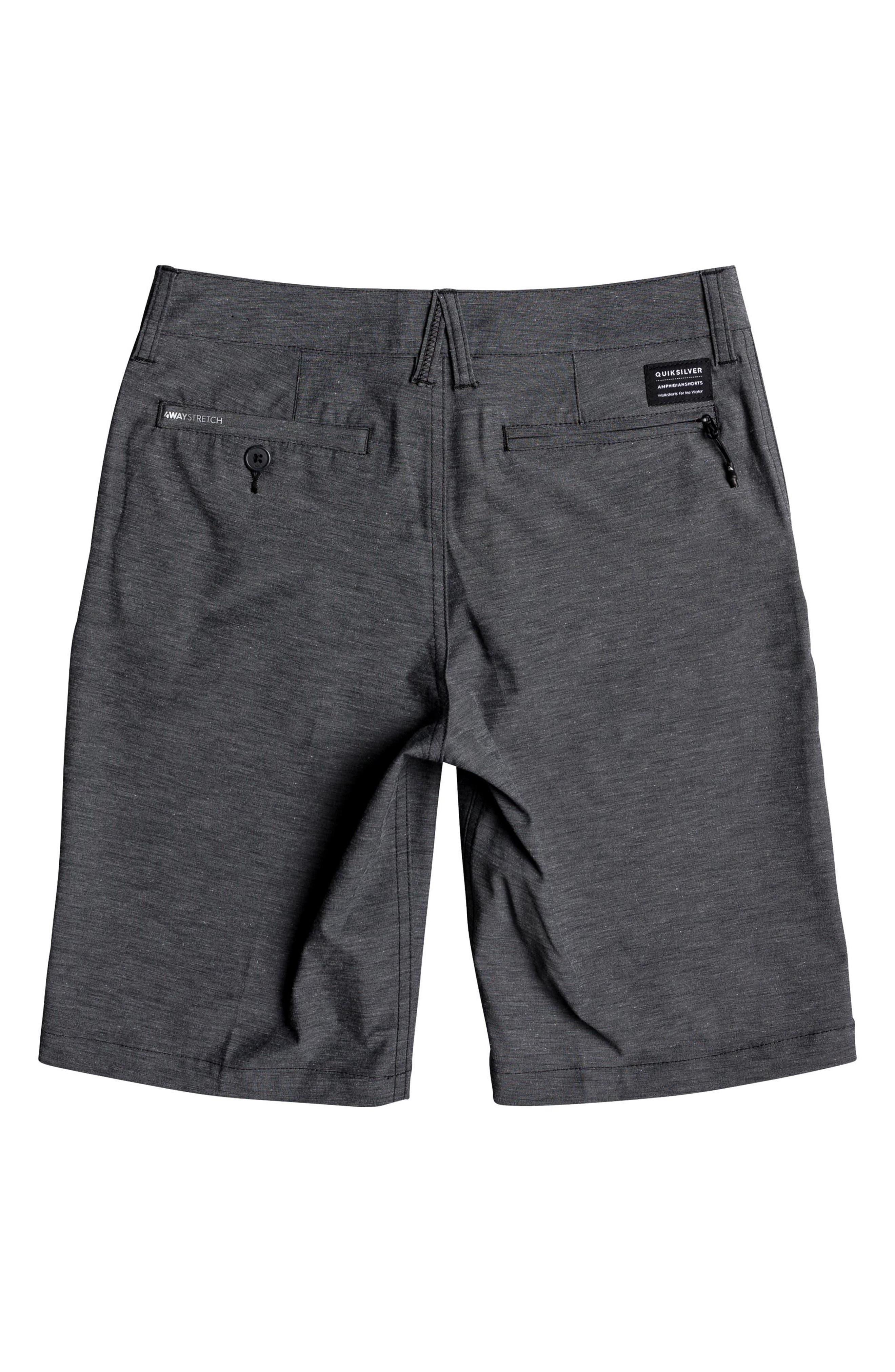 Union Heather Amphibian Hybrid Shorts,                             Alternate thumbnail 2, color,                             BLACK