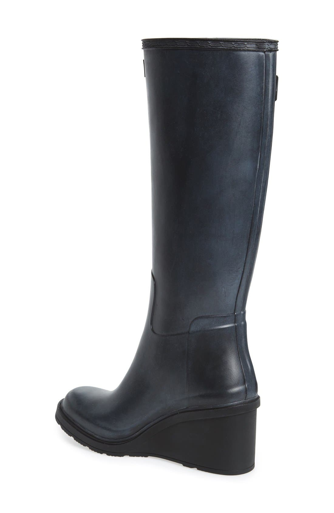 Original Refined Wedge Rain Boot,                             Alternate thumbnail 6, color,