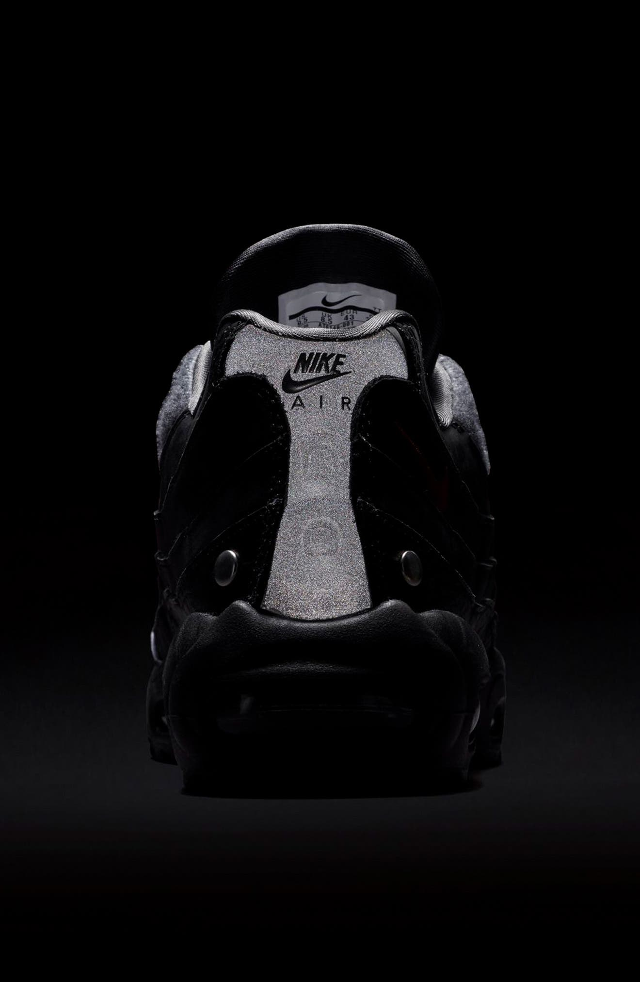 Air Max 95 NRG Sneaker,                             Alternate thumbnail 6, color,                             BLACK/ TEAM RED/ ANTHRACITE