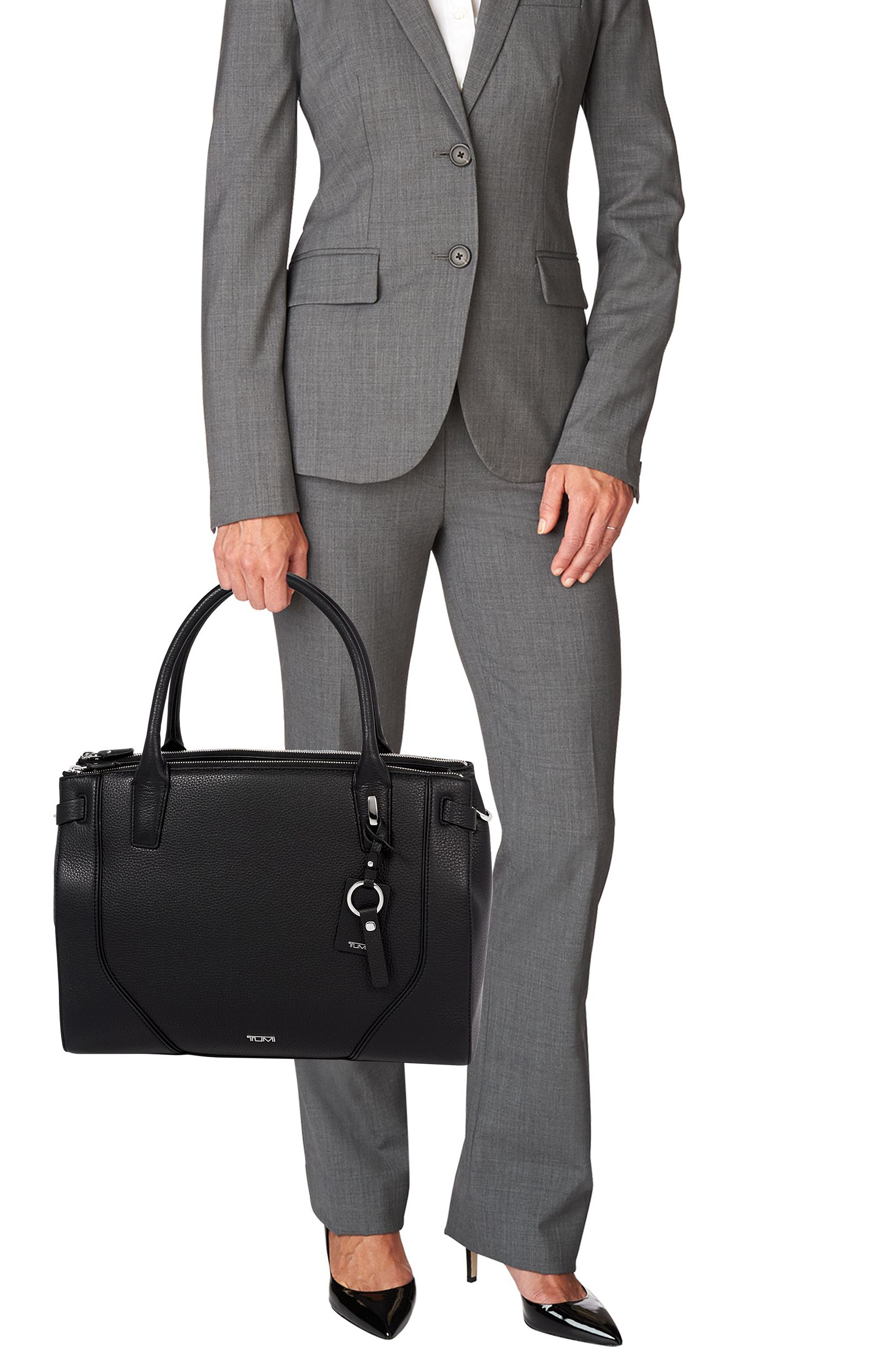 Stanton Kiran Leather Laptop Briefcase,                             Alternate thumbnail 2, color,                             BLACK
