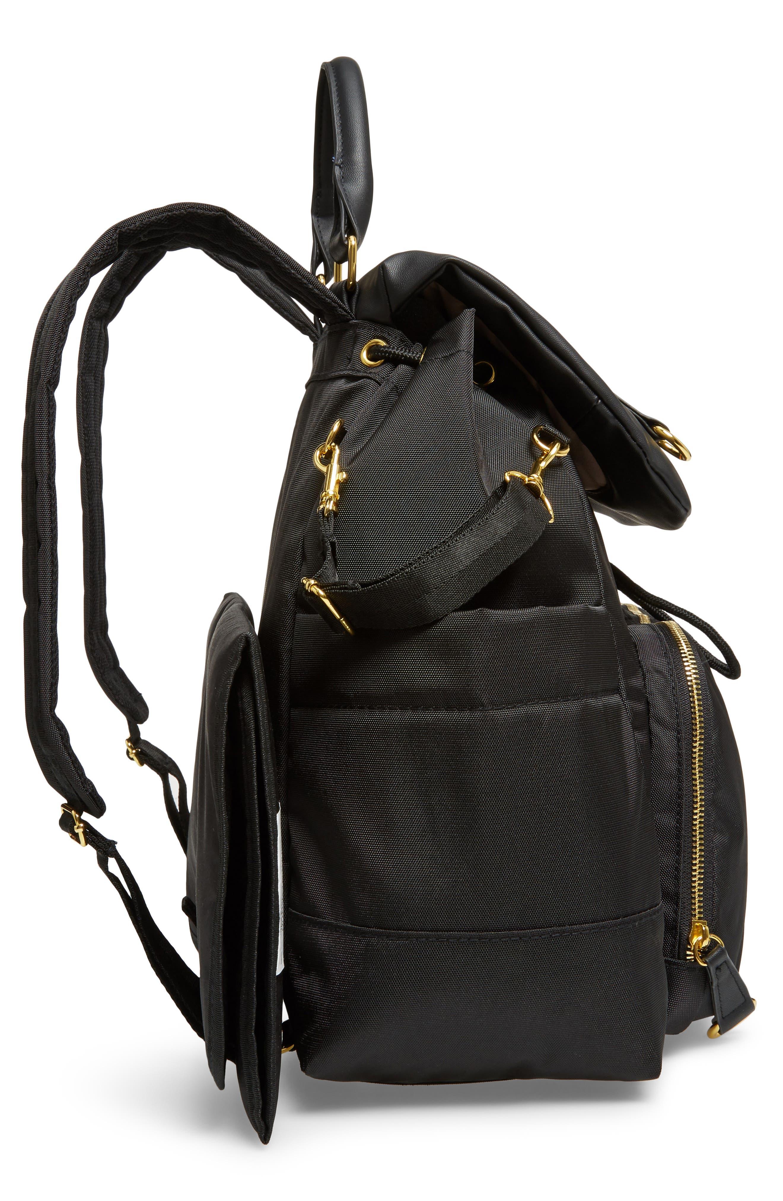 'Chelsea' Diaper Bag Backpack,                             Alternate thumbnail 5, color,                             BLACK