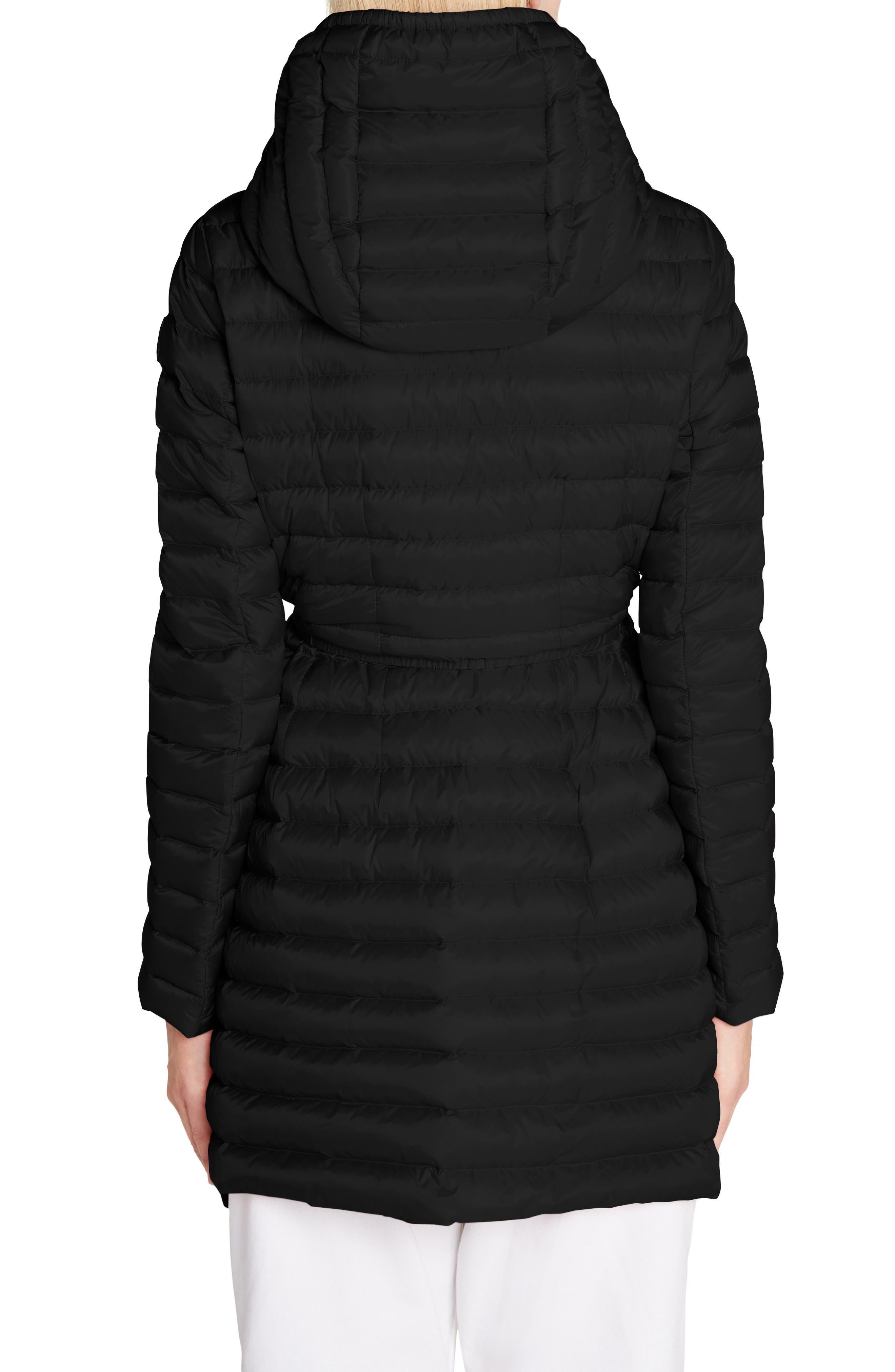 MONCLER,                             Barbel Water Resistant Long Hooded Down Jacket,                             Alternate thumbnail 2, color,                             001