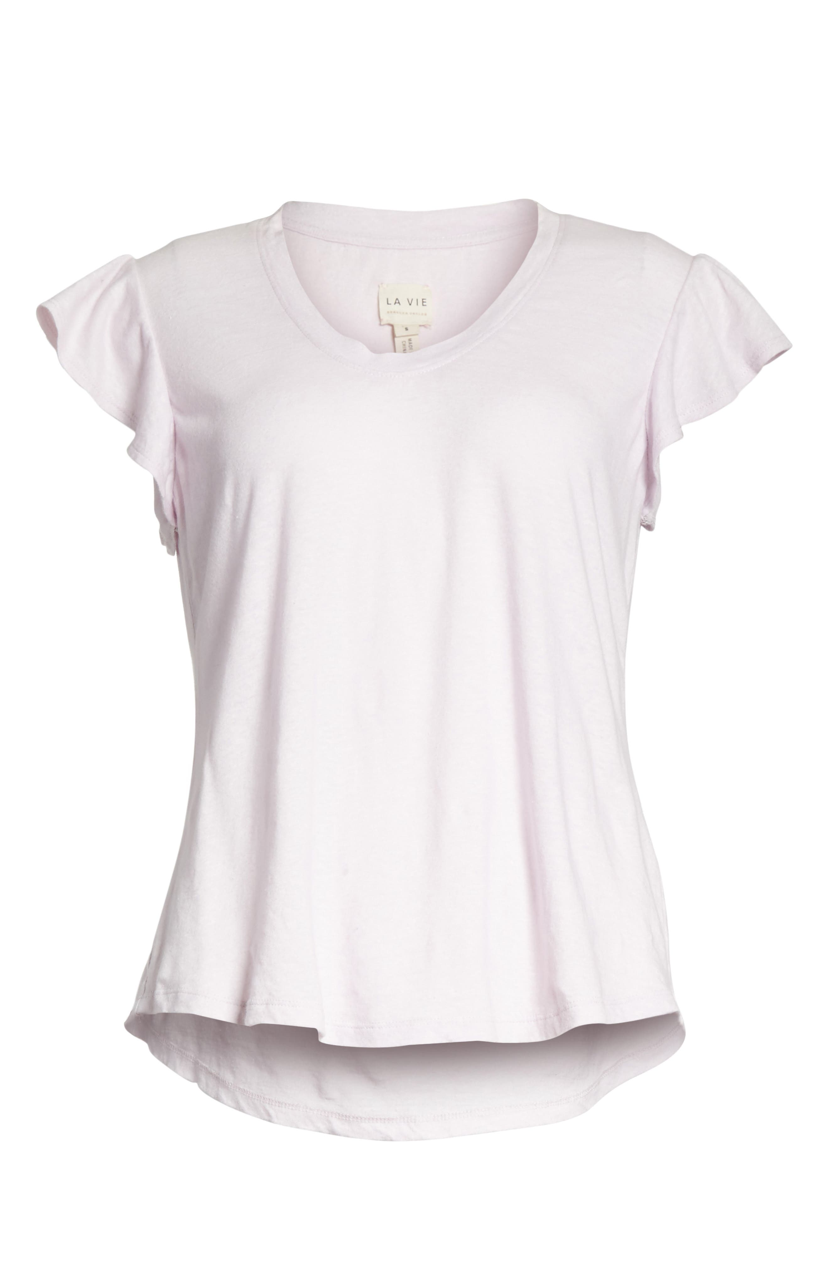 Flutter Sleeve Tee,                             Alternate thumbnail 6, color,                             661