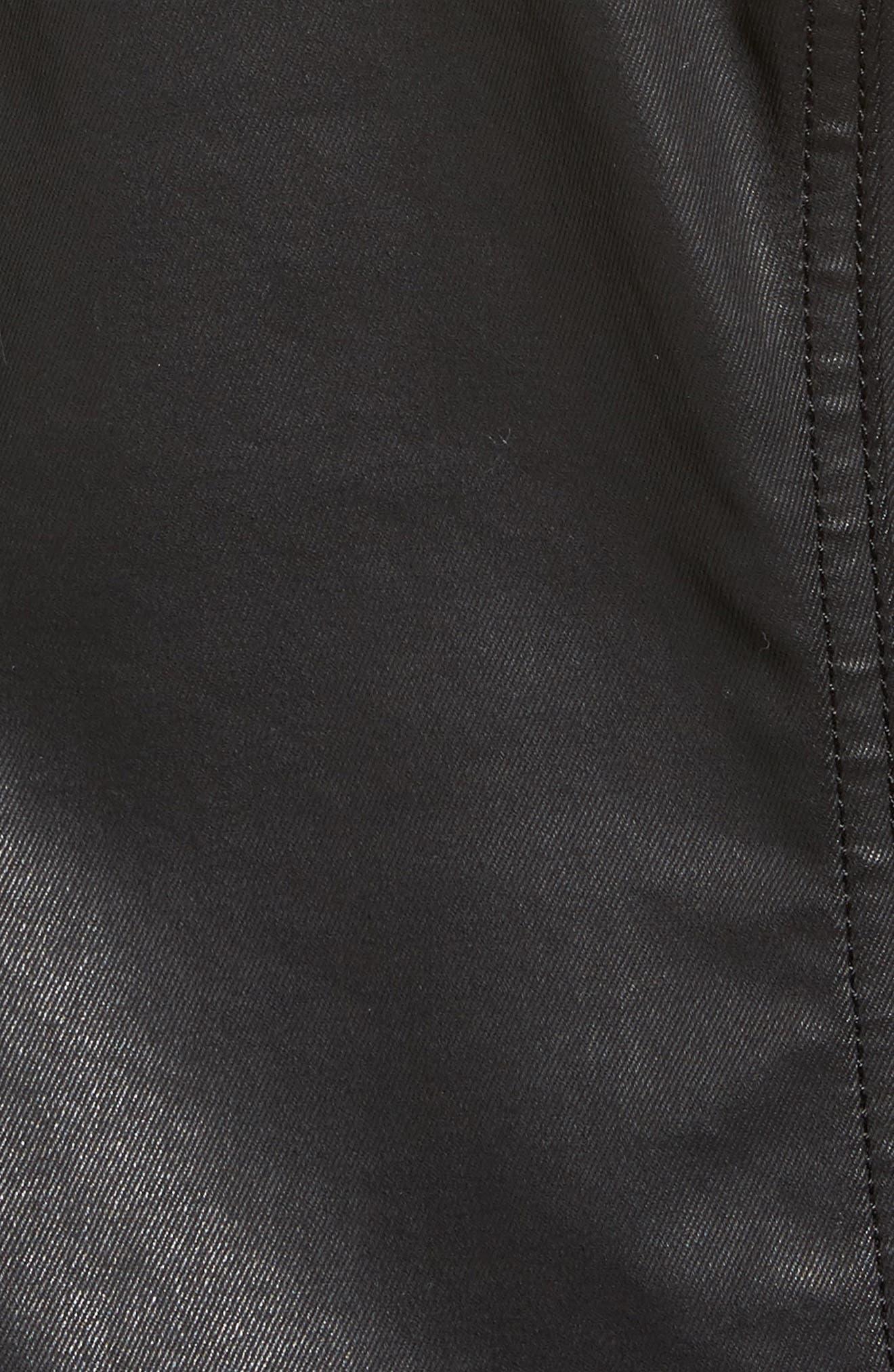 Waxed Moto Jacket,                             Alternate thumbnail 6, color,                             001