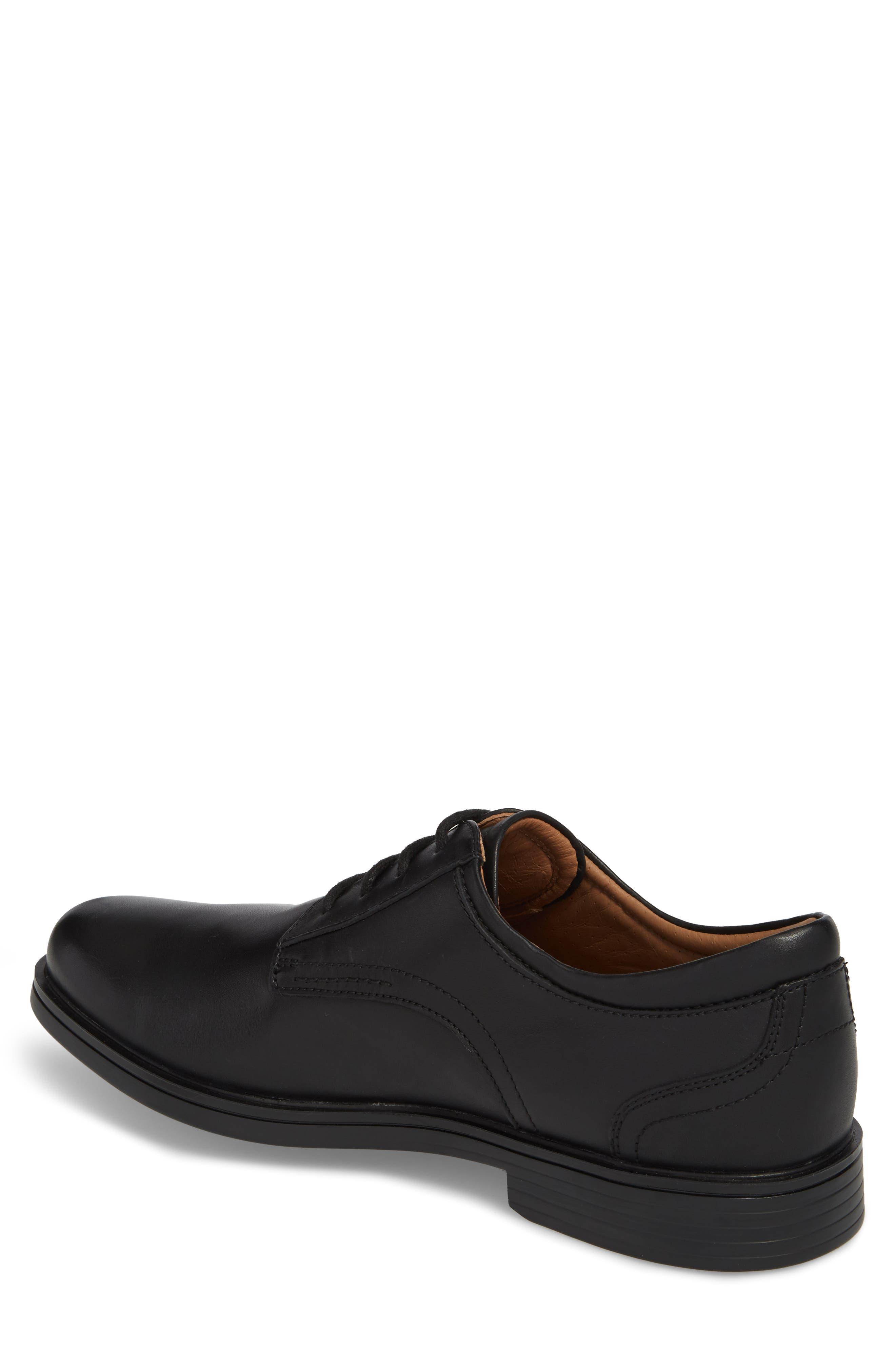 Unaldric Plain Toe Derby,                             Alternate thumbnail 2, color,                             BLACK LEATHER