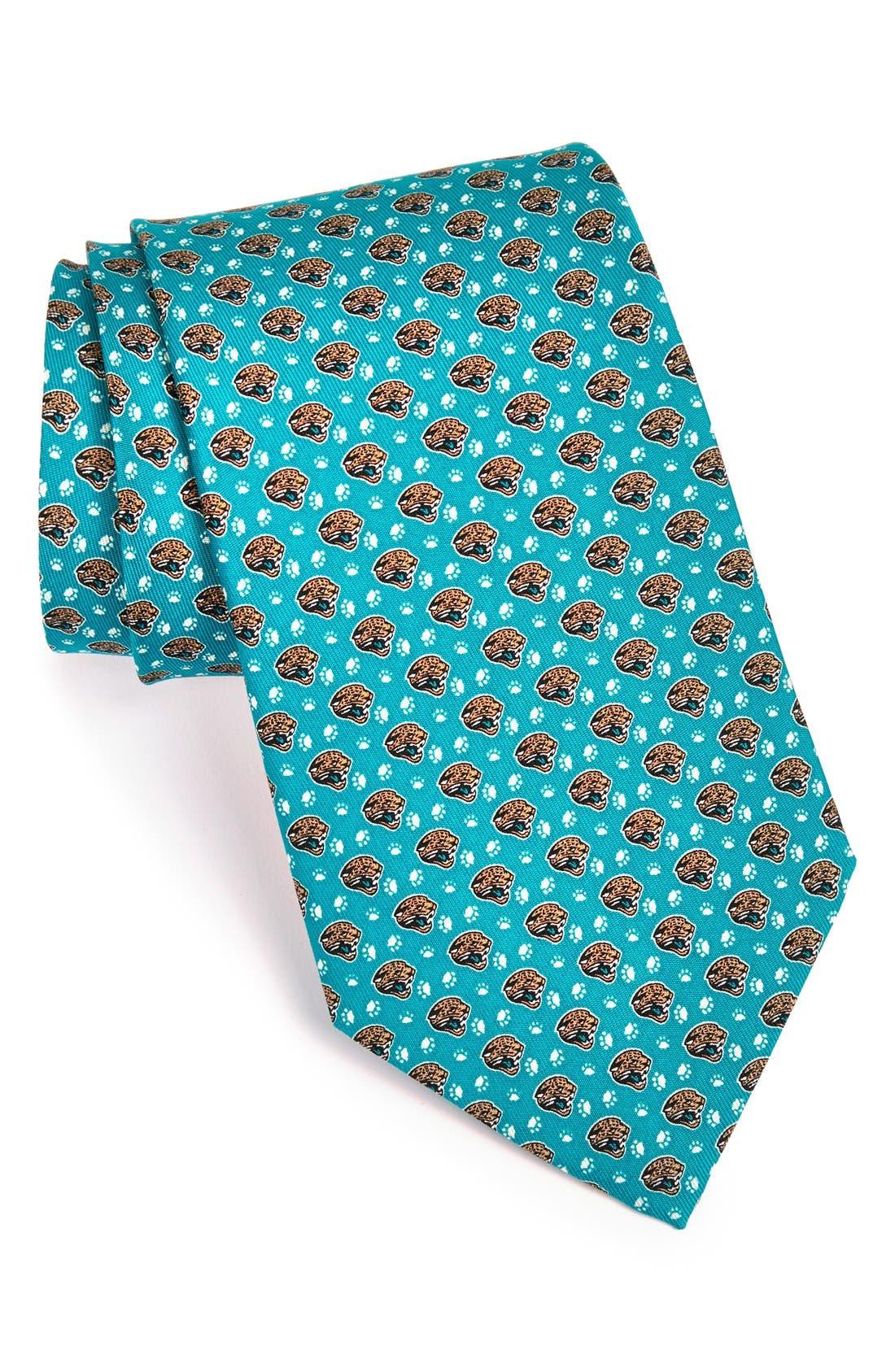 Jacksonville Jaguars - NFL Woven Silk Tie,                             Main thumbnail 1, color,                             453