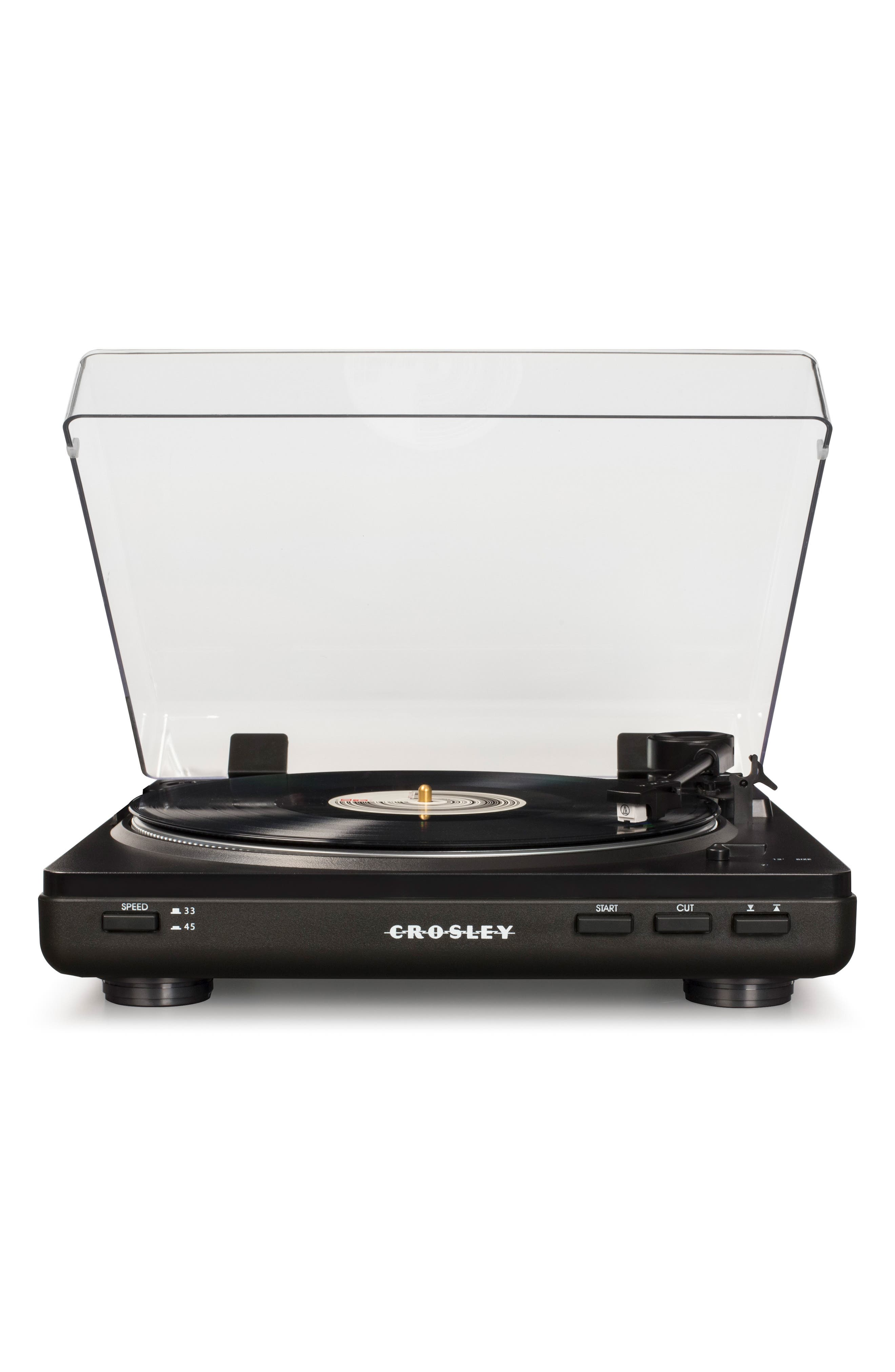 T400 Two-Speed Automatic Turntable,                             Main thumbnail 1, color,                             BLACK