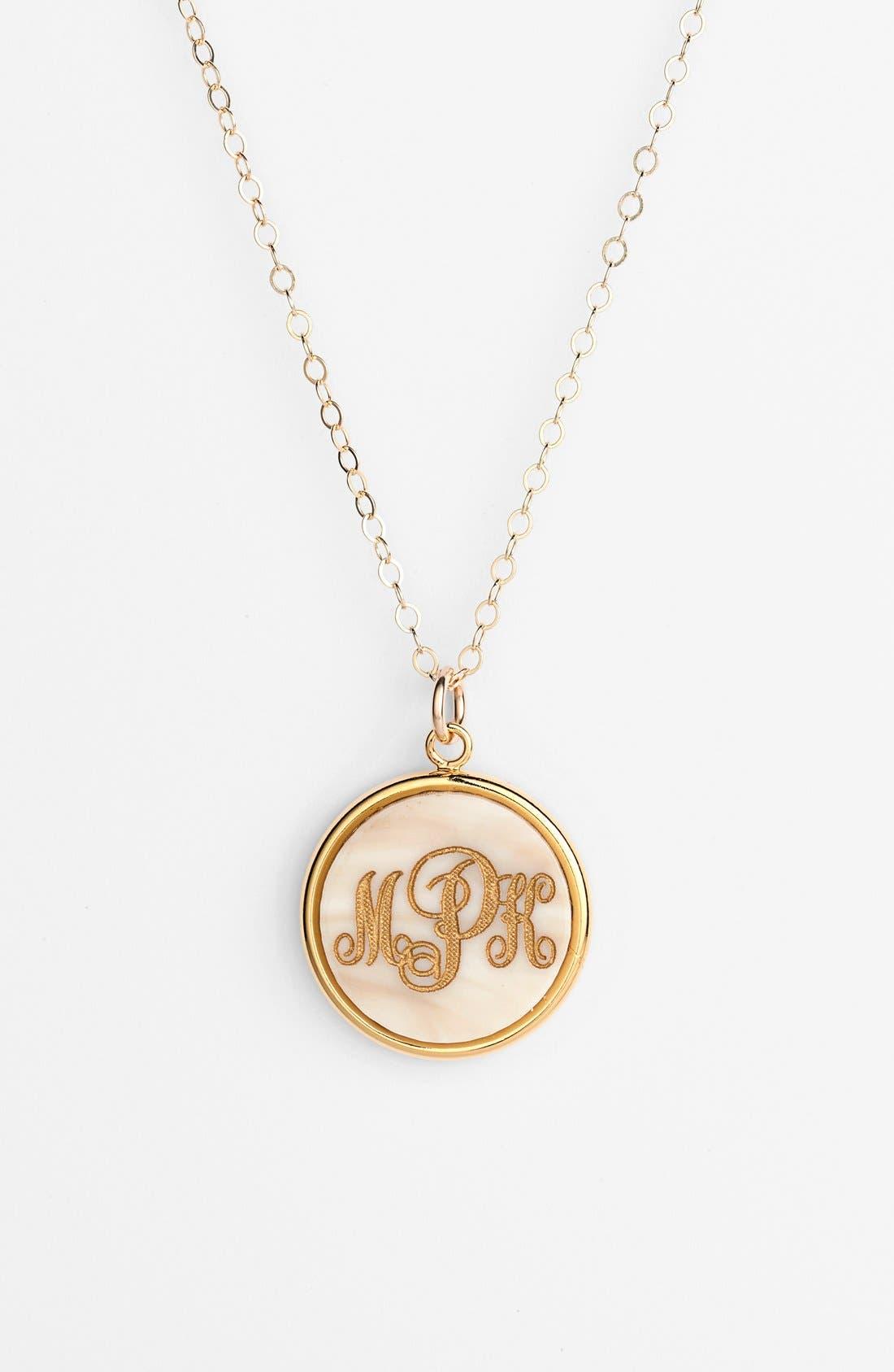 'Vineyard' Personalized Monogram Pendant Necklace,                         Main,                         color, 900