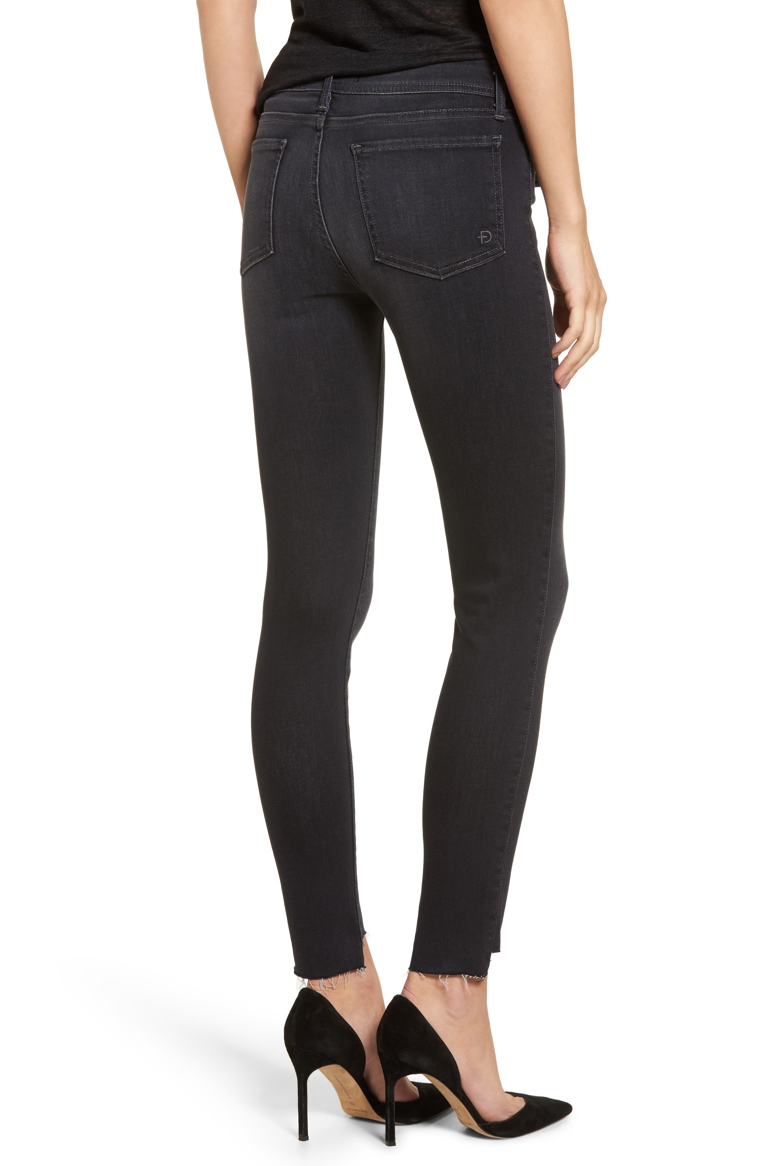 Mila Step Hem Skinny Jeans,                             Alternate thumbnail 2, color,                             AFTER MIDNIGHT