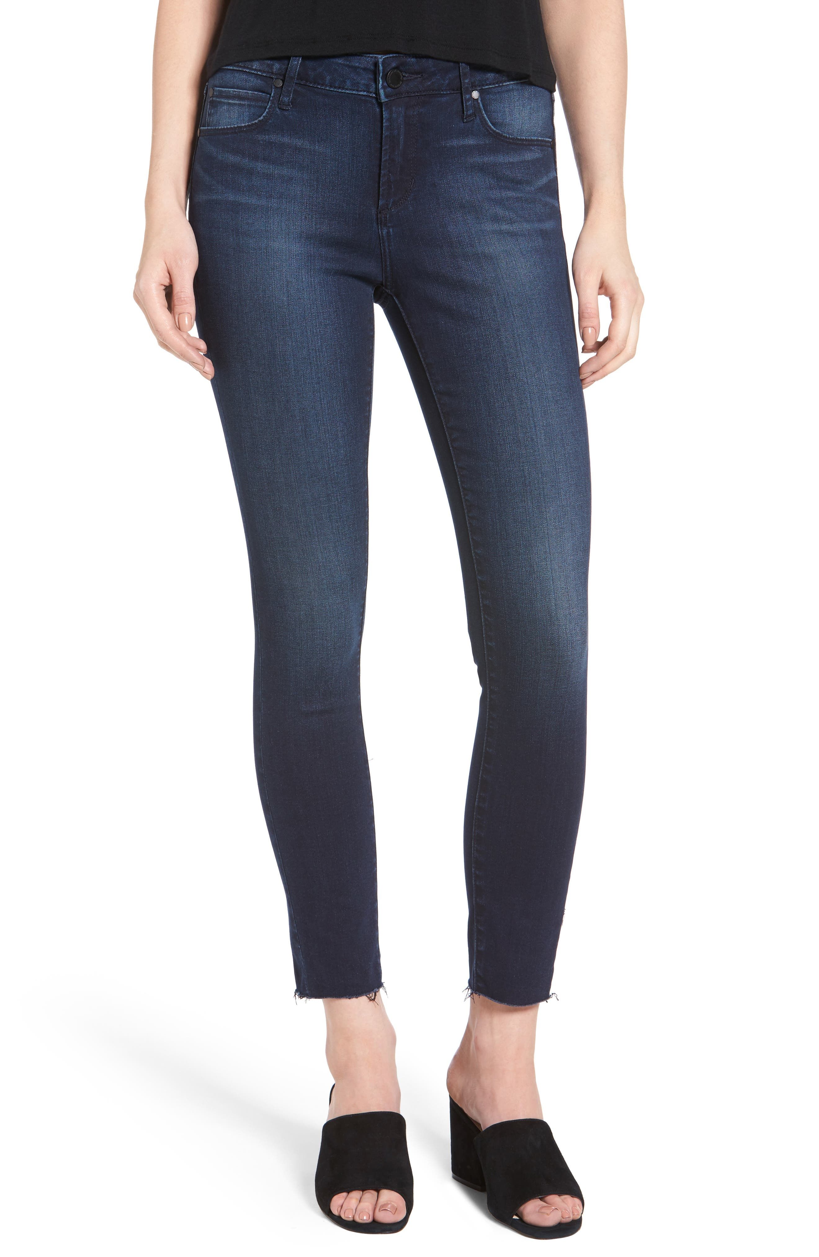 ARTICLES OF SOCIETY Carly Crop Skinny Jeans, Main, color, 499