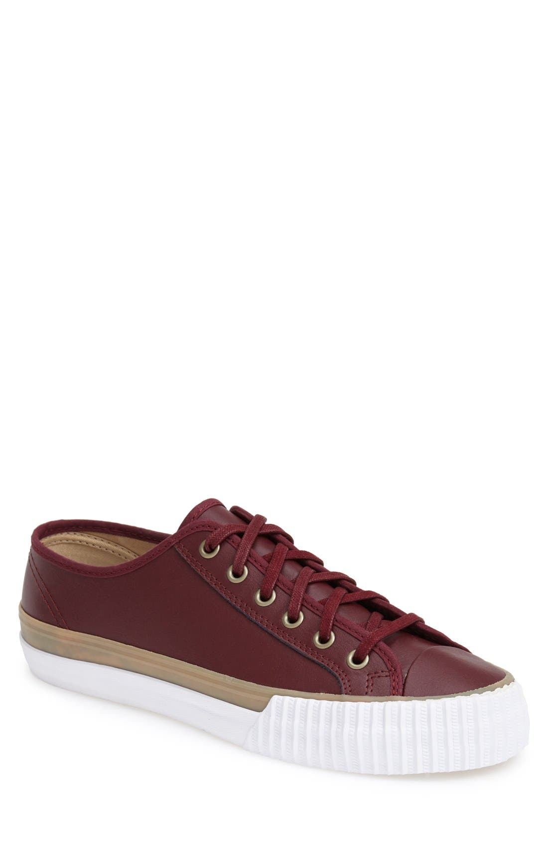 PF FLYERS,                             'Center Lo' Leather Sneaker,                             Main thumbnail 1, color,                             932