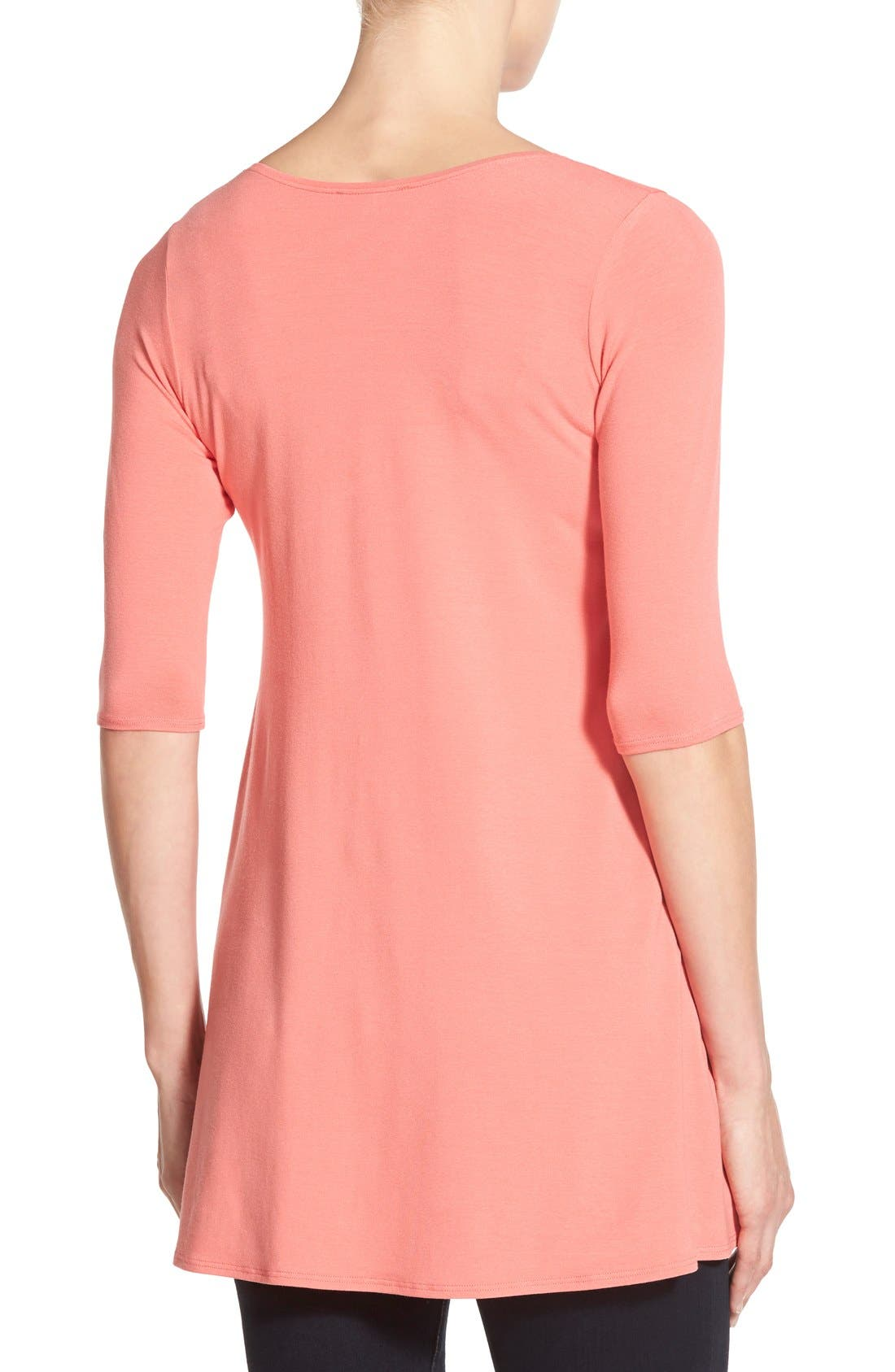 Scoop Neck Elbow Sleeve Jersey Tunic,                             Alternate thumbnail 60, color,