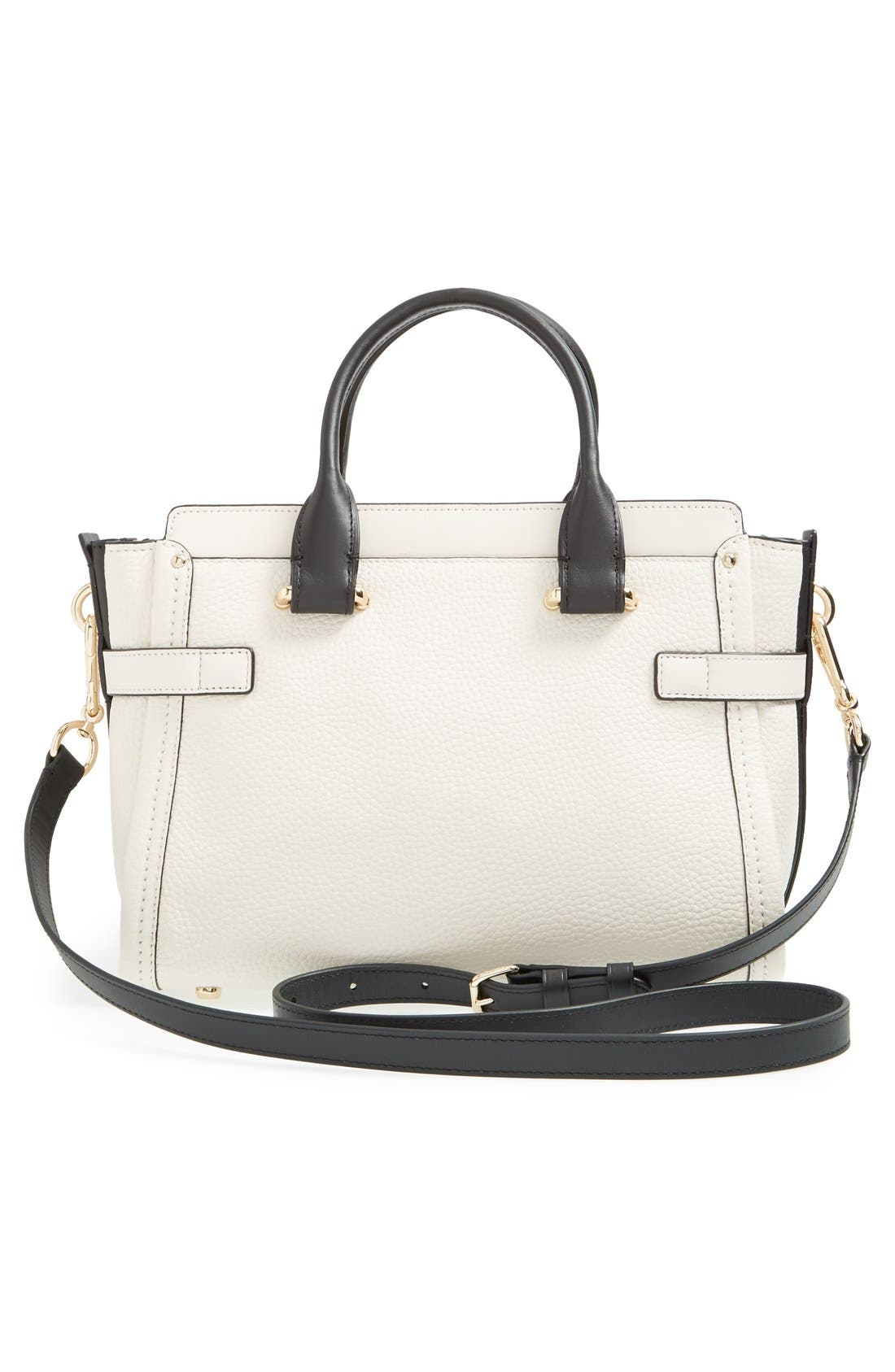 'Swagger 35' Colorblock Leather Satchel,                             Alternate thumbnail 6, color,                             178