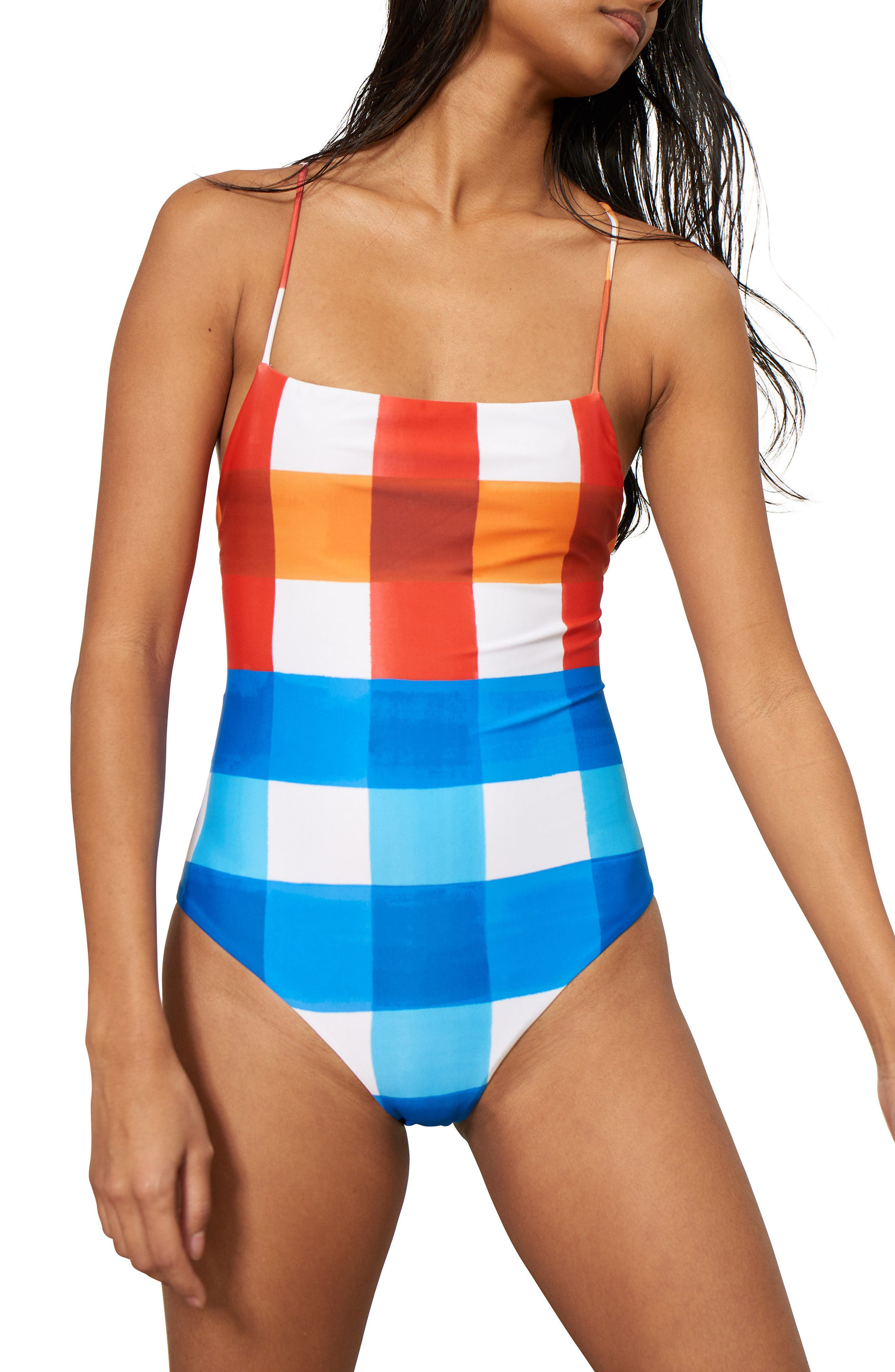 Mara Hoffman Olympia One-Piece Swimsuit, Red