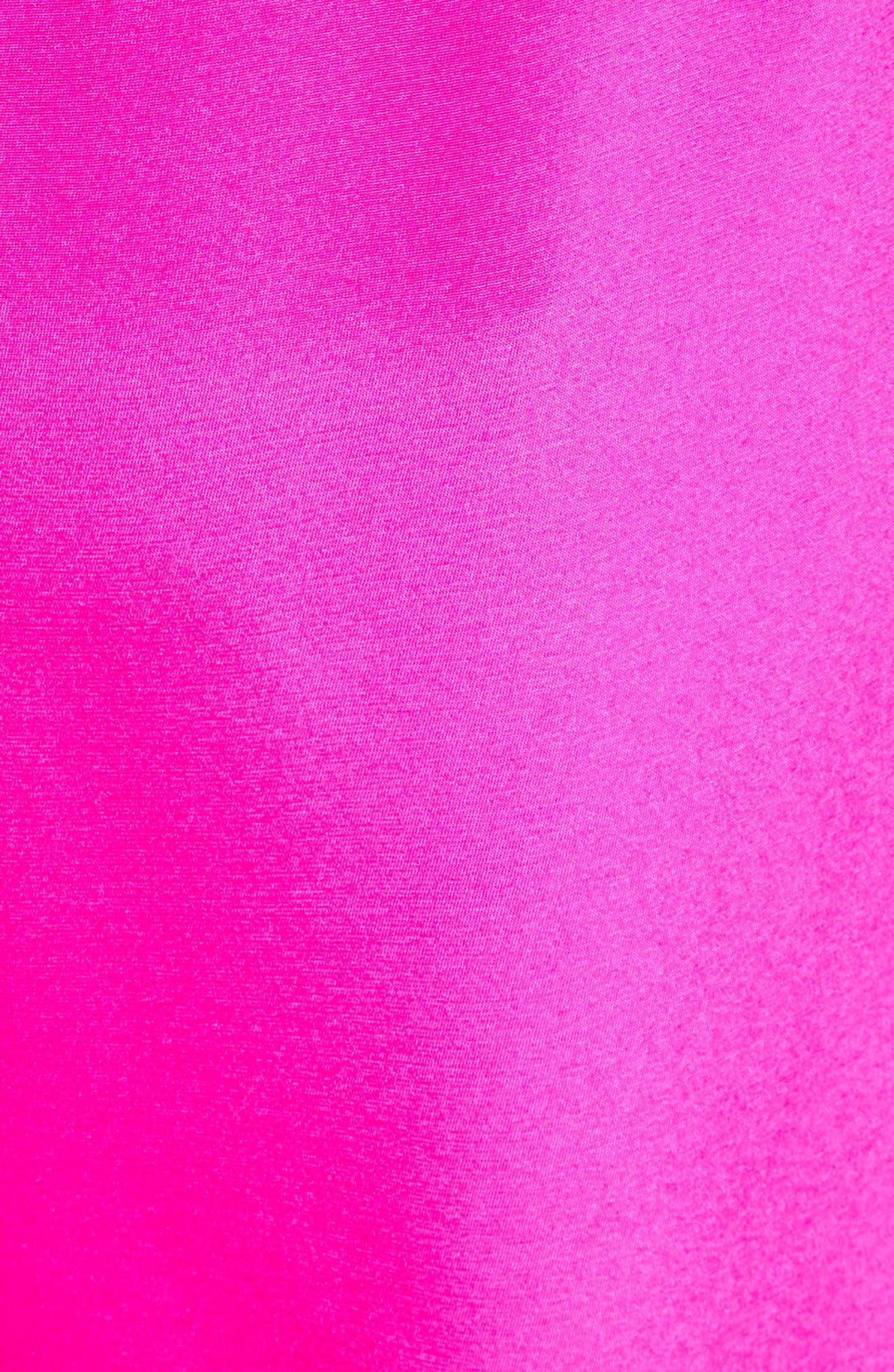 Silk Crêpe de Chine Contrast Side Shorts,                             Alternate thumbnail 6, color,                             670