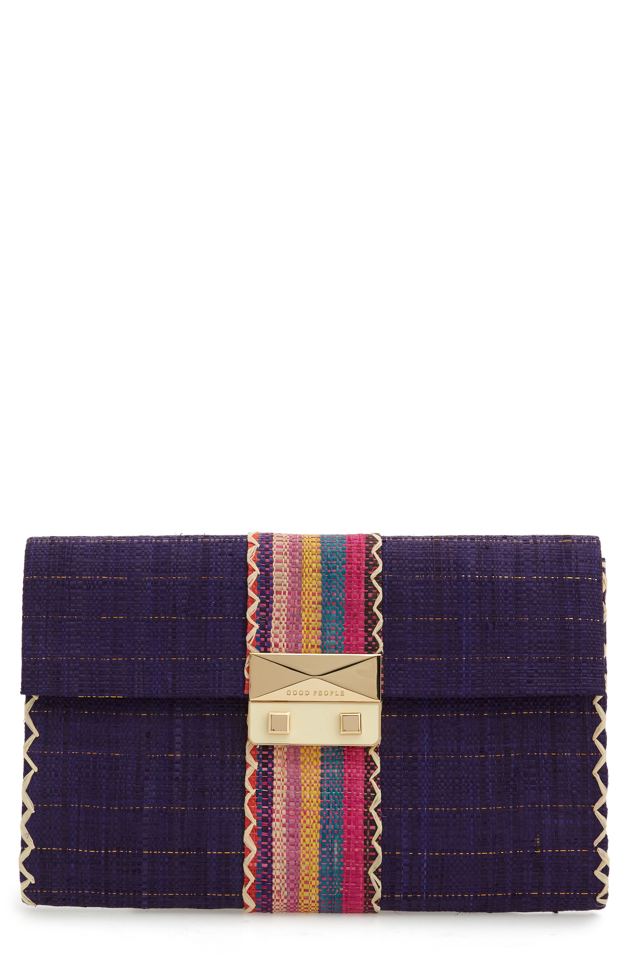 Woven Cocktail Clutch,                         Main,                         color,