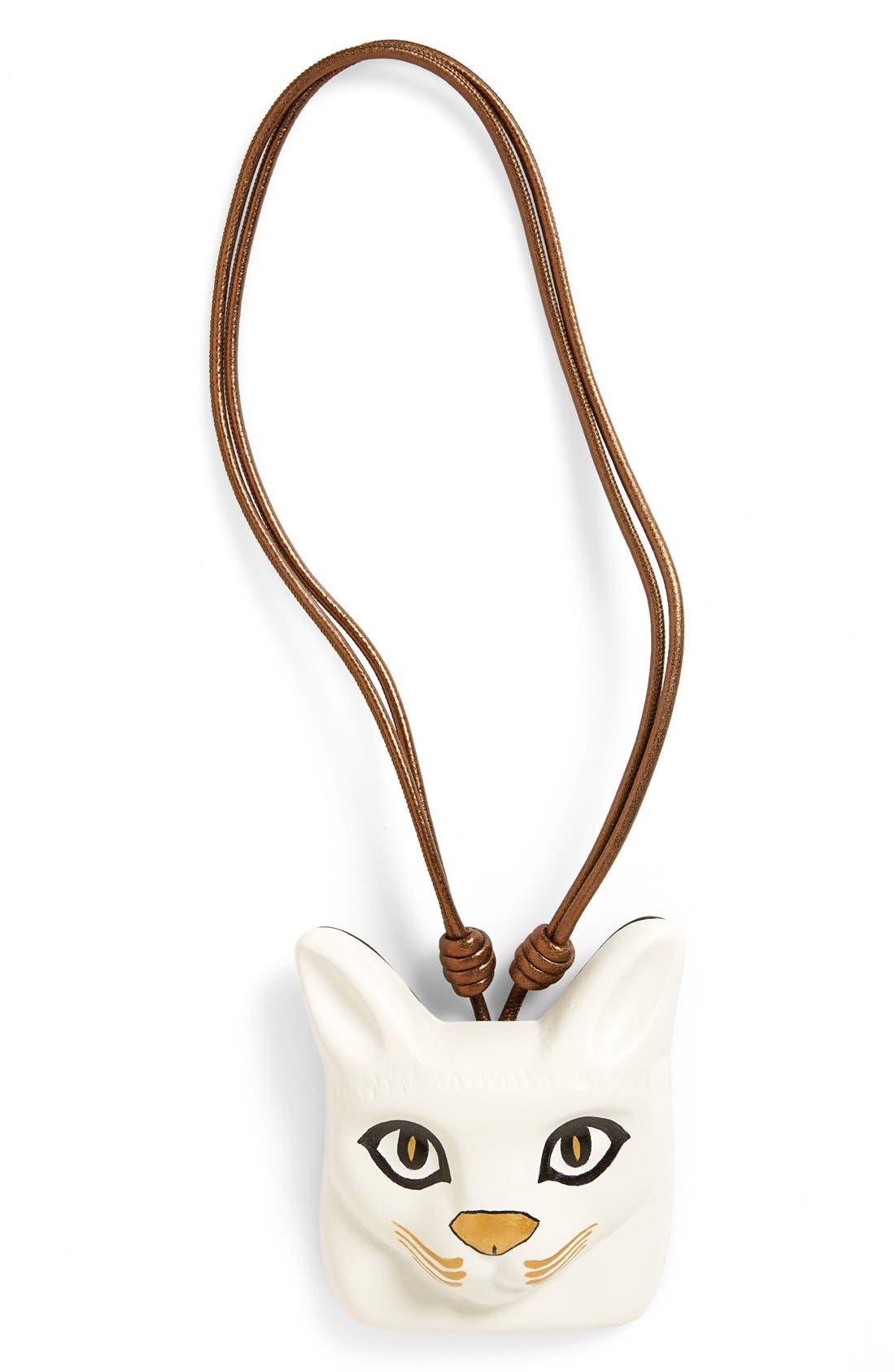 LOEWE Cat Face Necklace, Main, color, 100