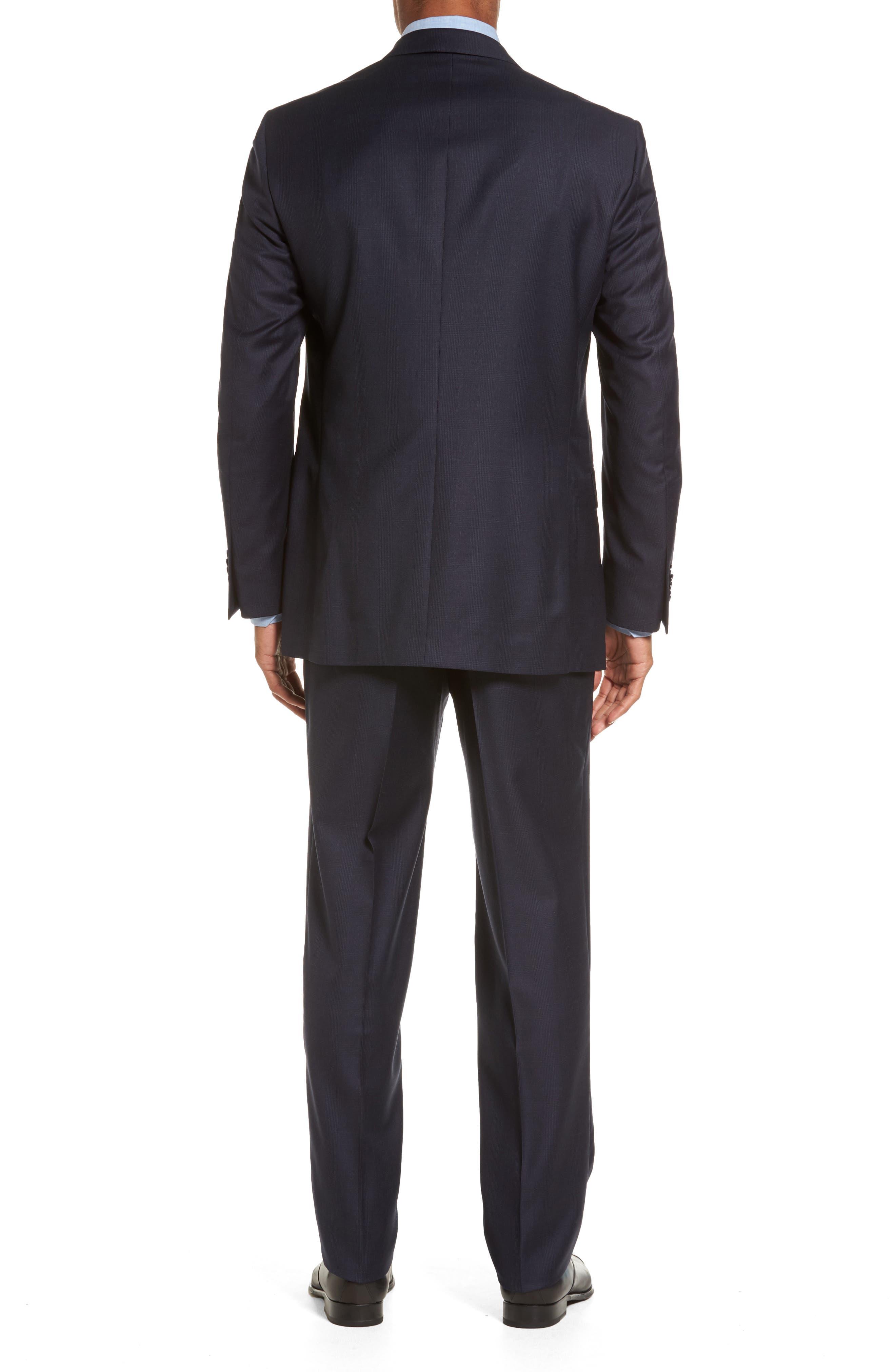 Flynn Classic Fit Plaid Wool Suit,                             Alternate thumbnail 2, color,                             410