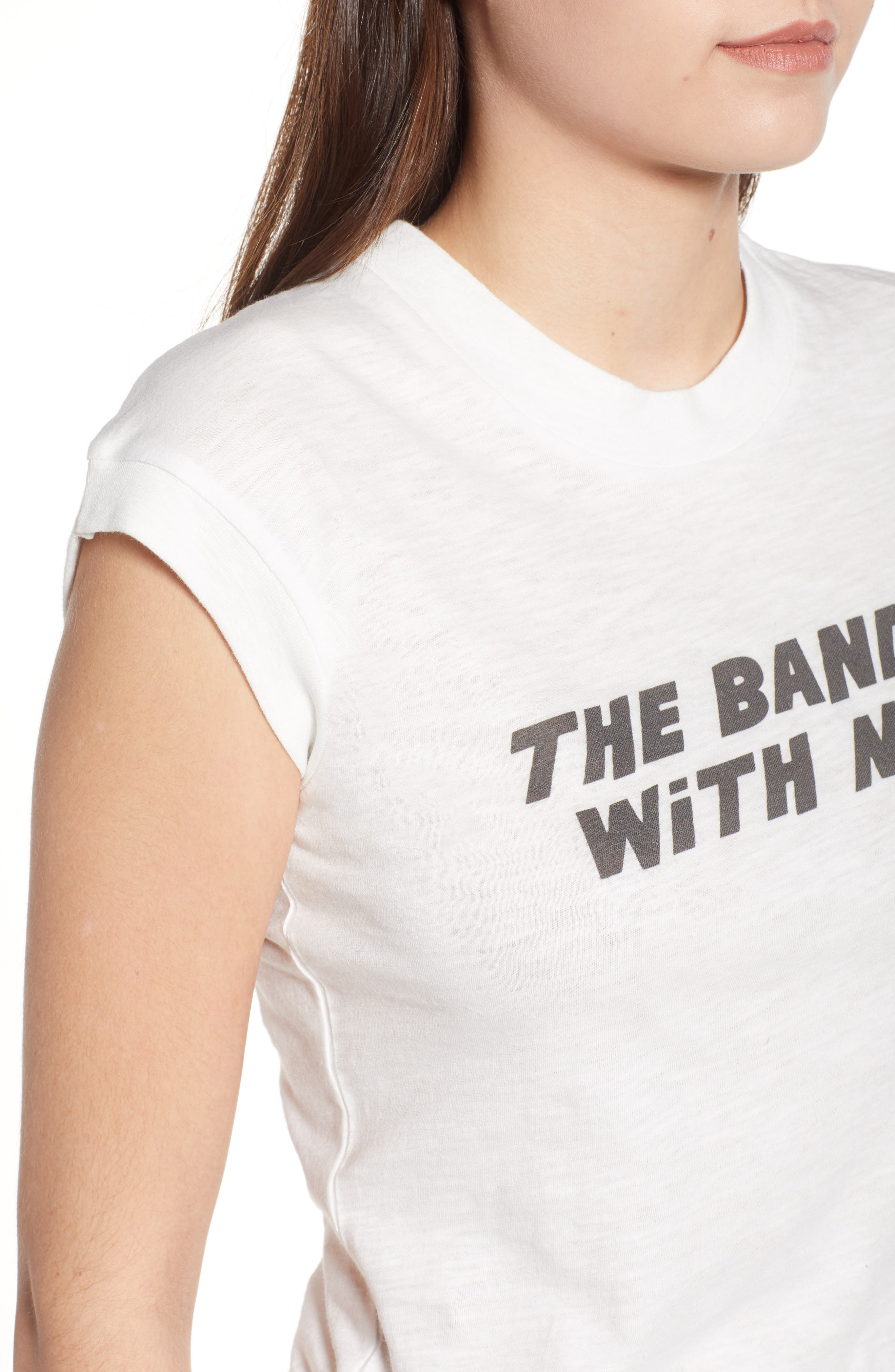 The Band's With Me Tee,                             Alternate thumbnail 4, color,                             100