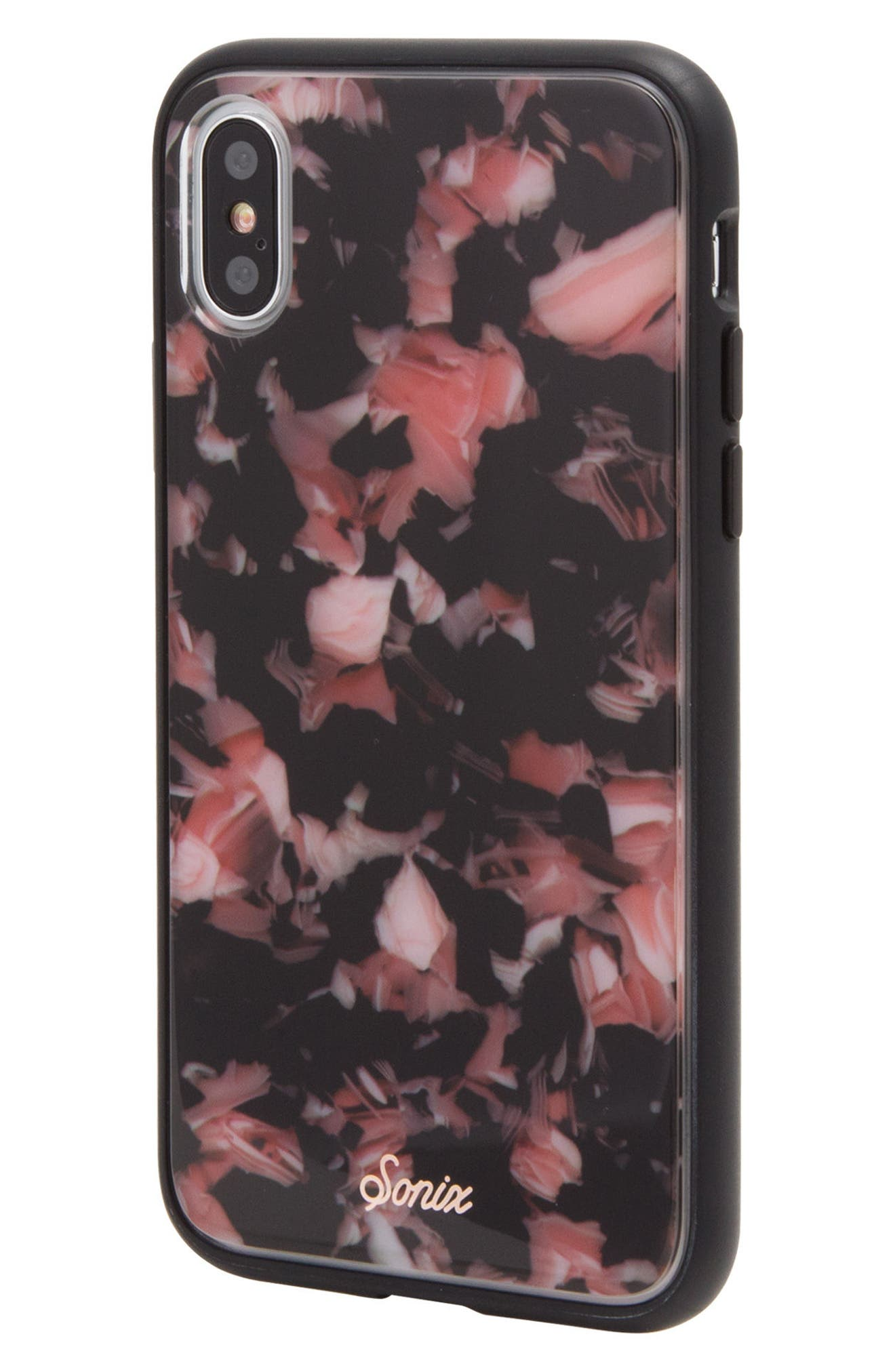 Rose Tortoise Print iPhone X Case,                             Alternate thumbnail 3, color,                             650