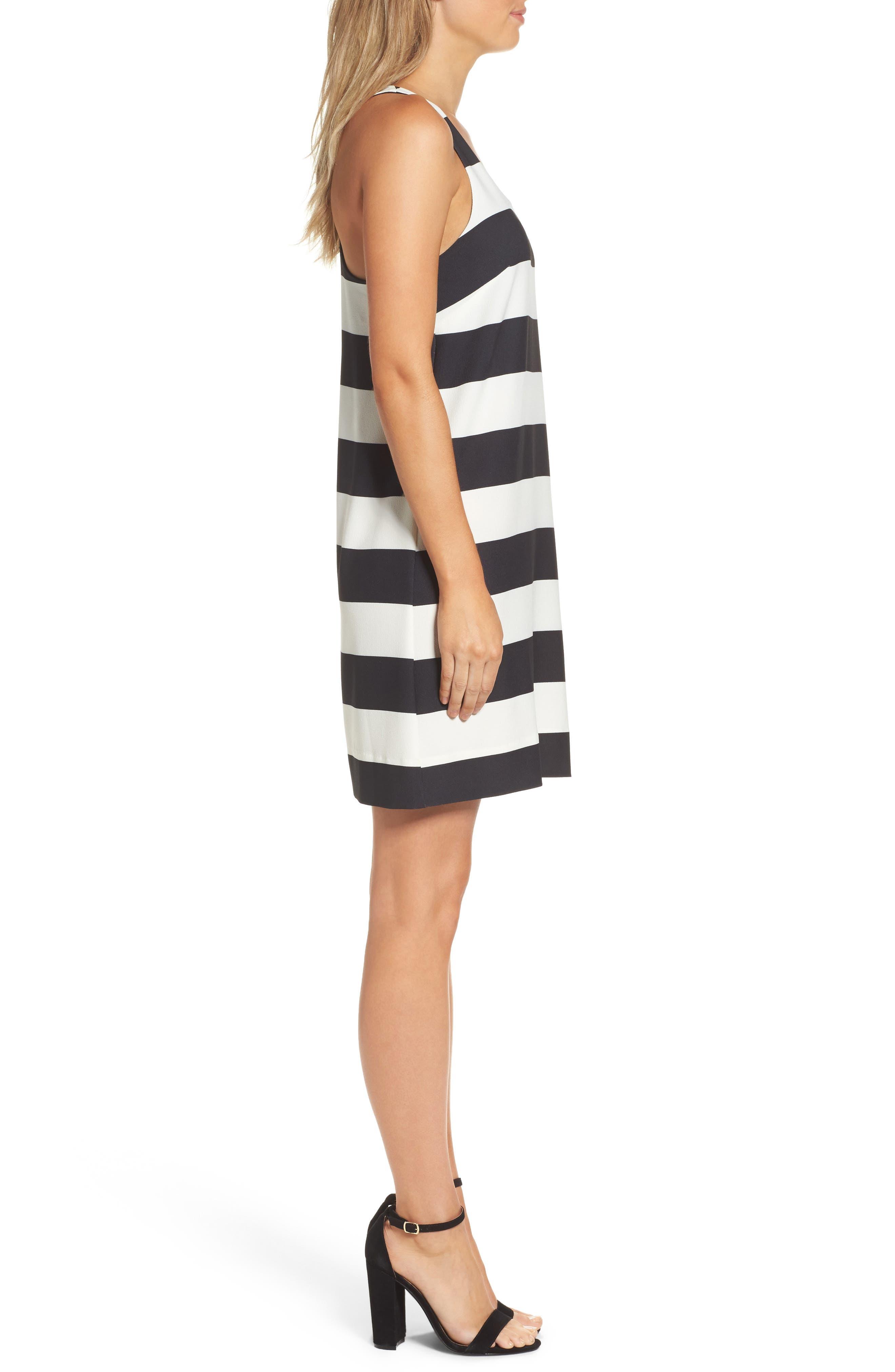 Sandy A-Line Dress,                             Alternate thumbnail 3, color,                             002