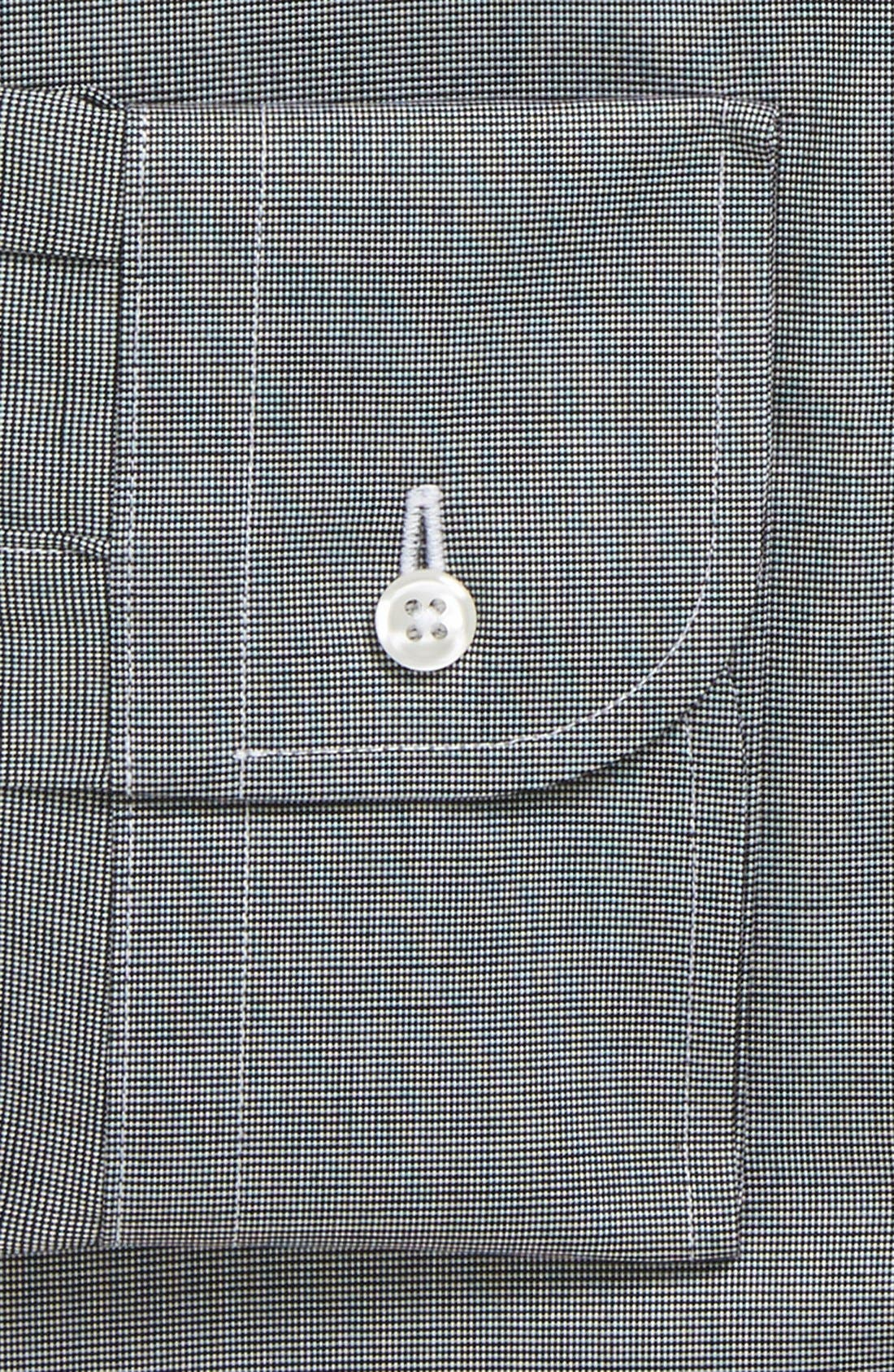 Traditional Fit Non-Iron Solid Dress Shirt,                             Alternate thumbnail 8, color,                             BLACK ROCK