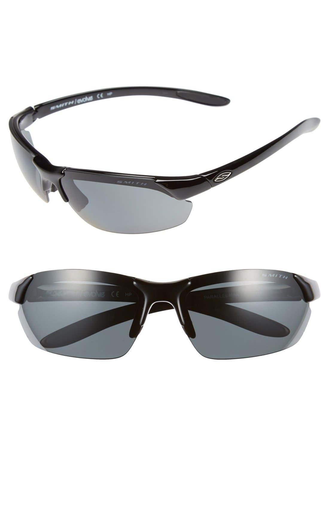 'Parallel Max' 65mm Polarized Sunglasses, Main, color, 001