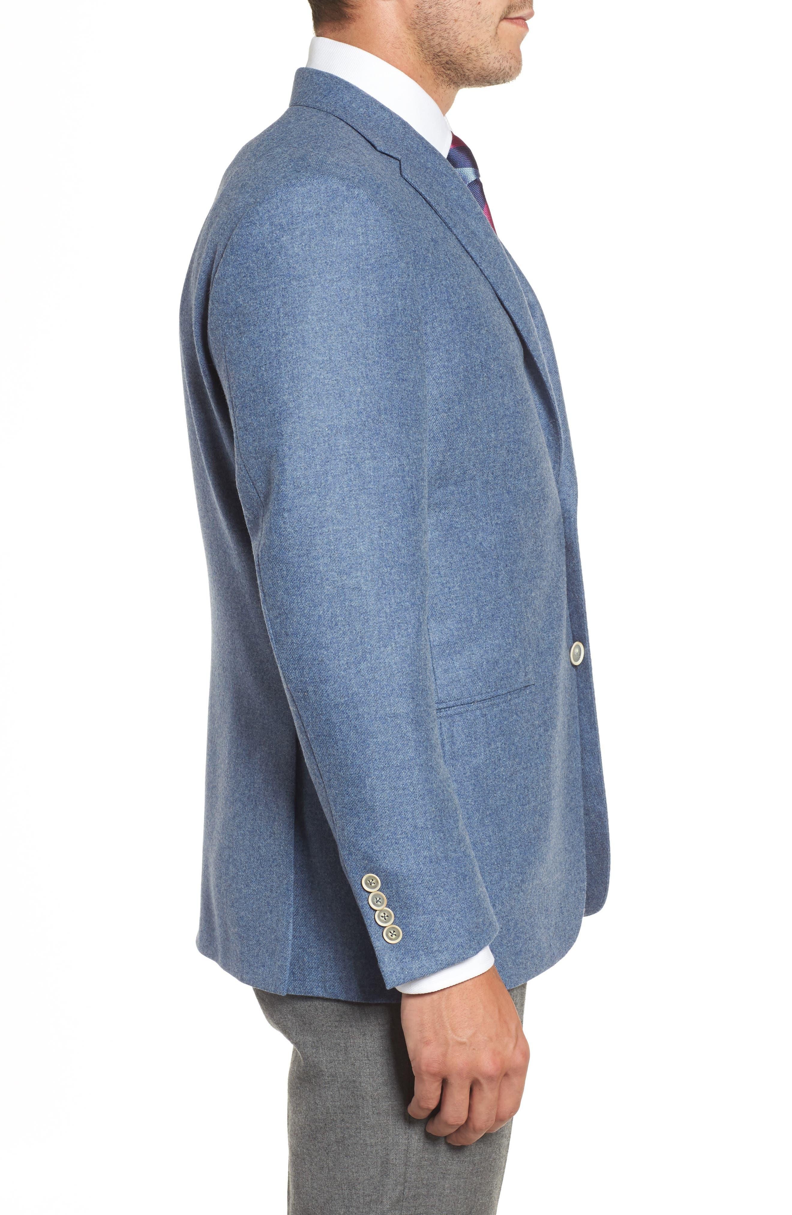 Beacon Classic Fit Wool & Cashmere Blazer,                             Alternate thumbnail 3, color,                             450