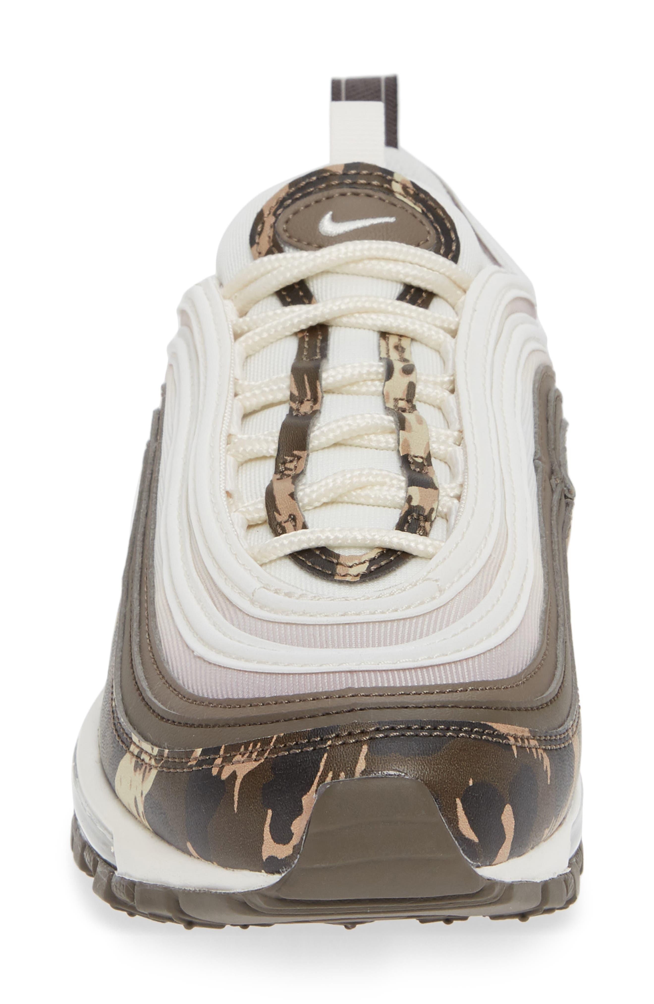 Air Max 97 Premium Sneaker,                             Alternate thumbnail 4, color,                             BROWN/ PHANTOM