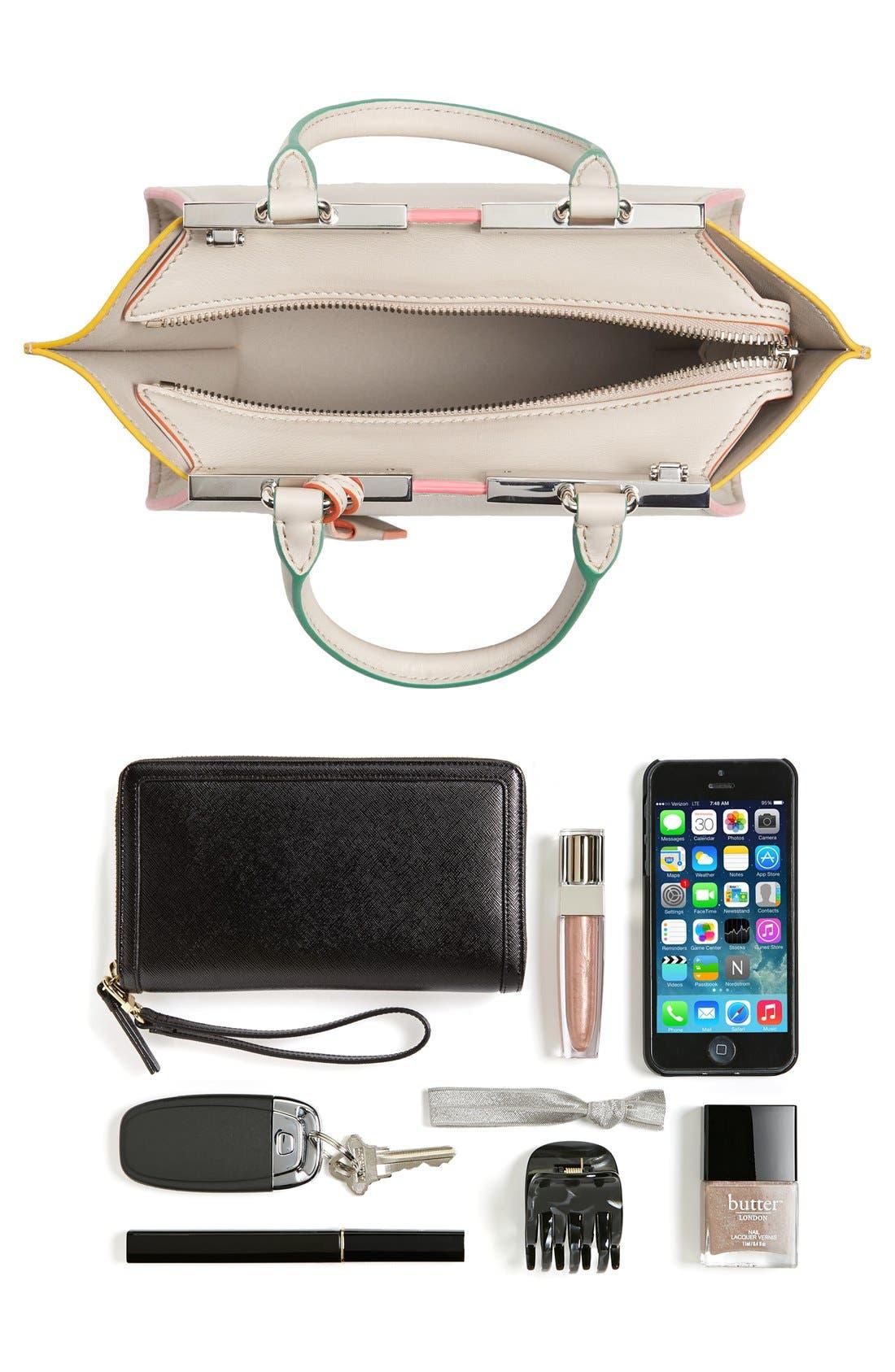 'Mini 3Jours' Calfskin Leather Shopper,                             Alternate thumbnail 12, color,