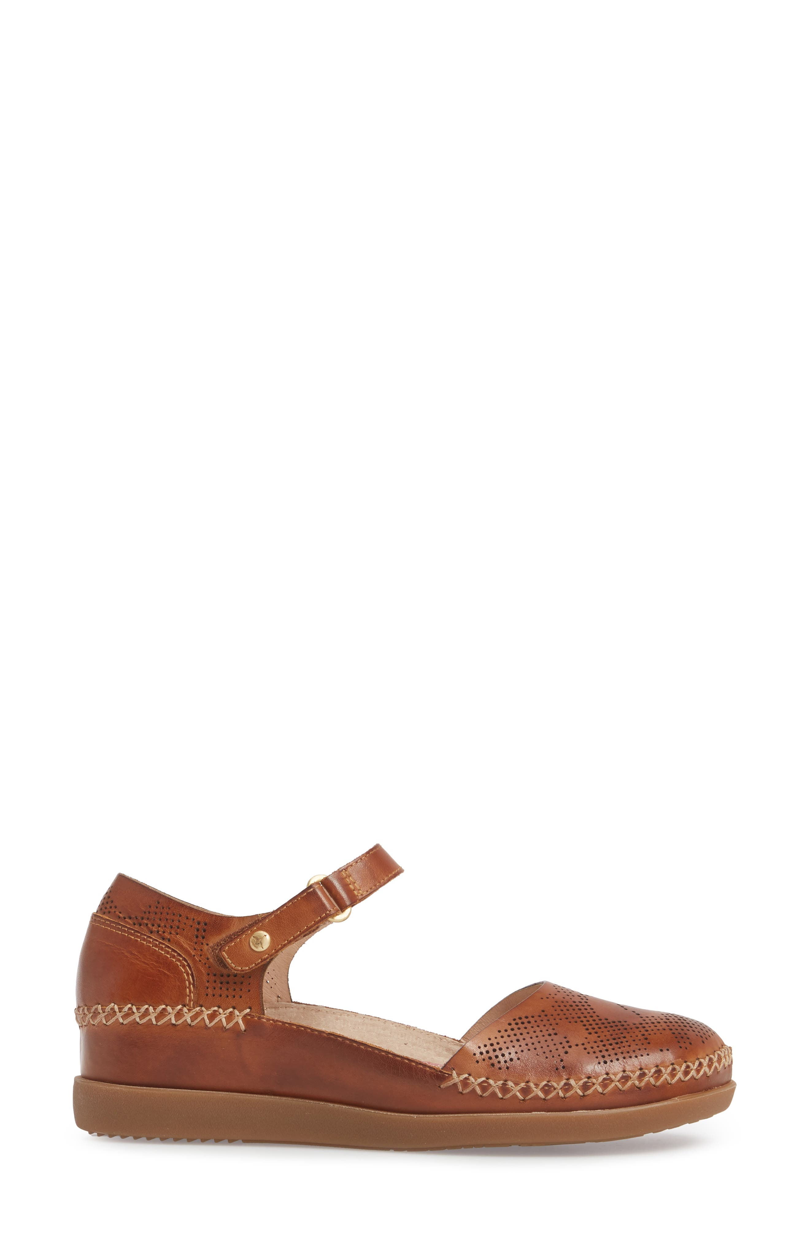 Cadaques Flat,                             Alternate thumbnail 3, color,                             BRANDY LEATHER