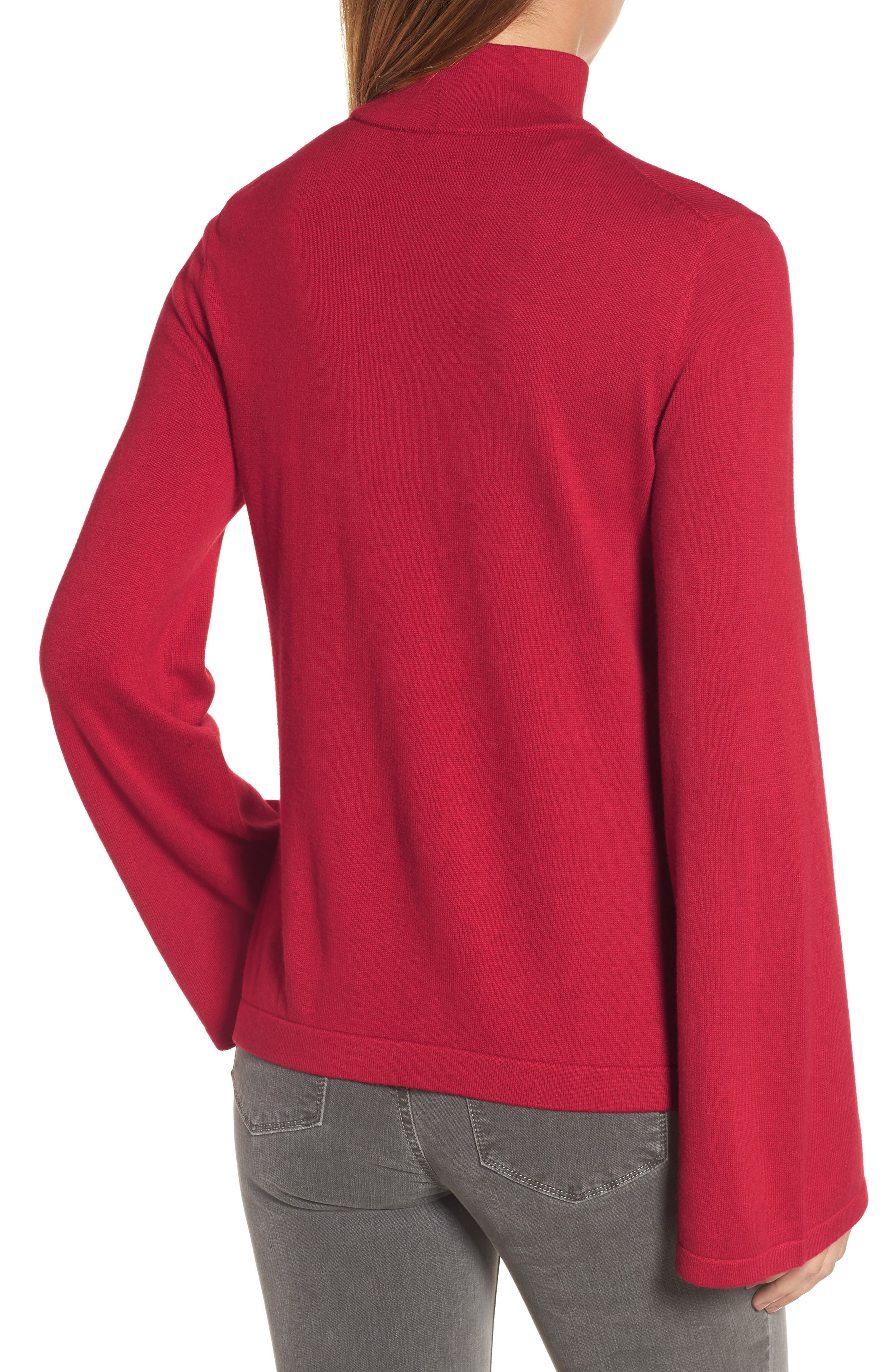 Bell Sleeve Choker Neck Sweater,                             Alternate thumbnail 10, color,