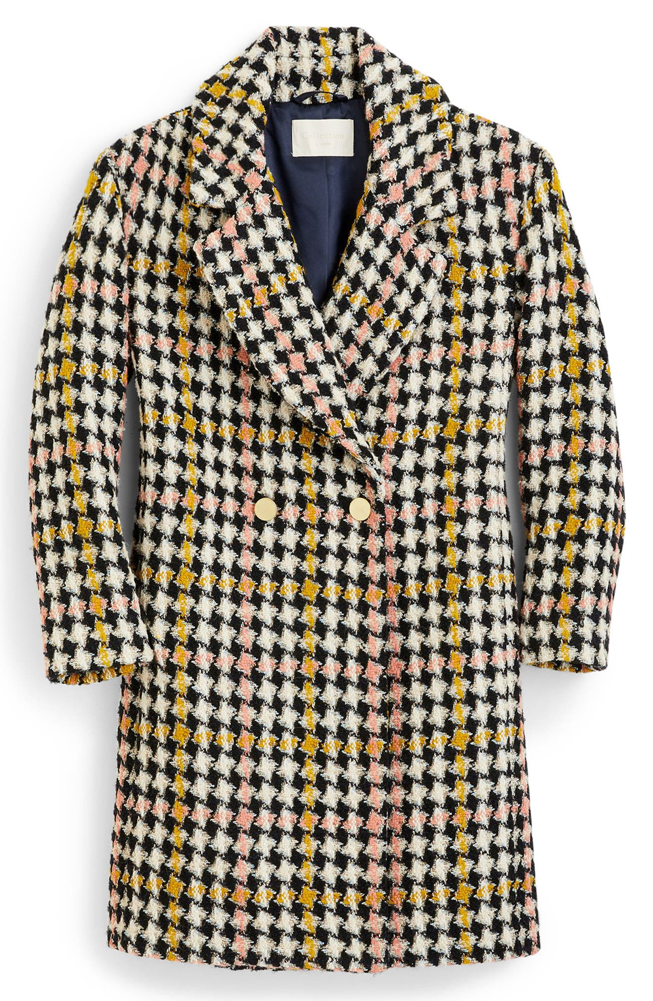 Collection Oversize Lurex<sup>®</sup> Tweed Coat,                             Alternate thumbnail 6, color,                             650