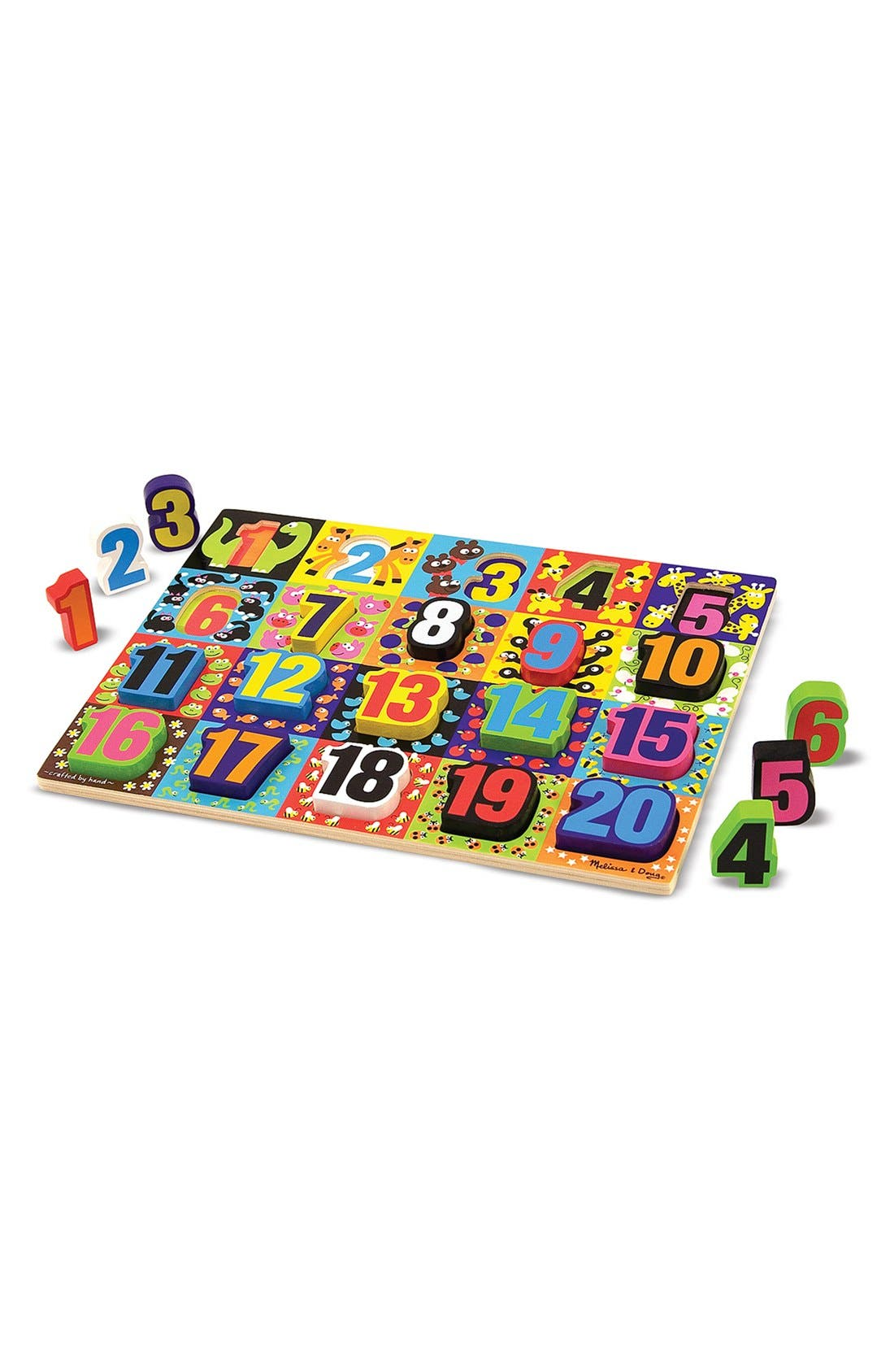 'Jumbo Numbers' Chunky Puzzle,                             Main thumbnail 1, color,                             RED MULTI