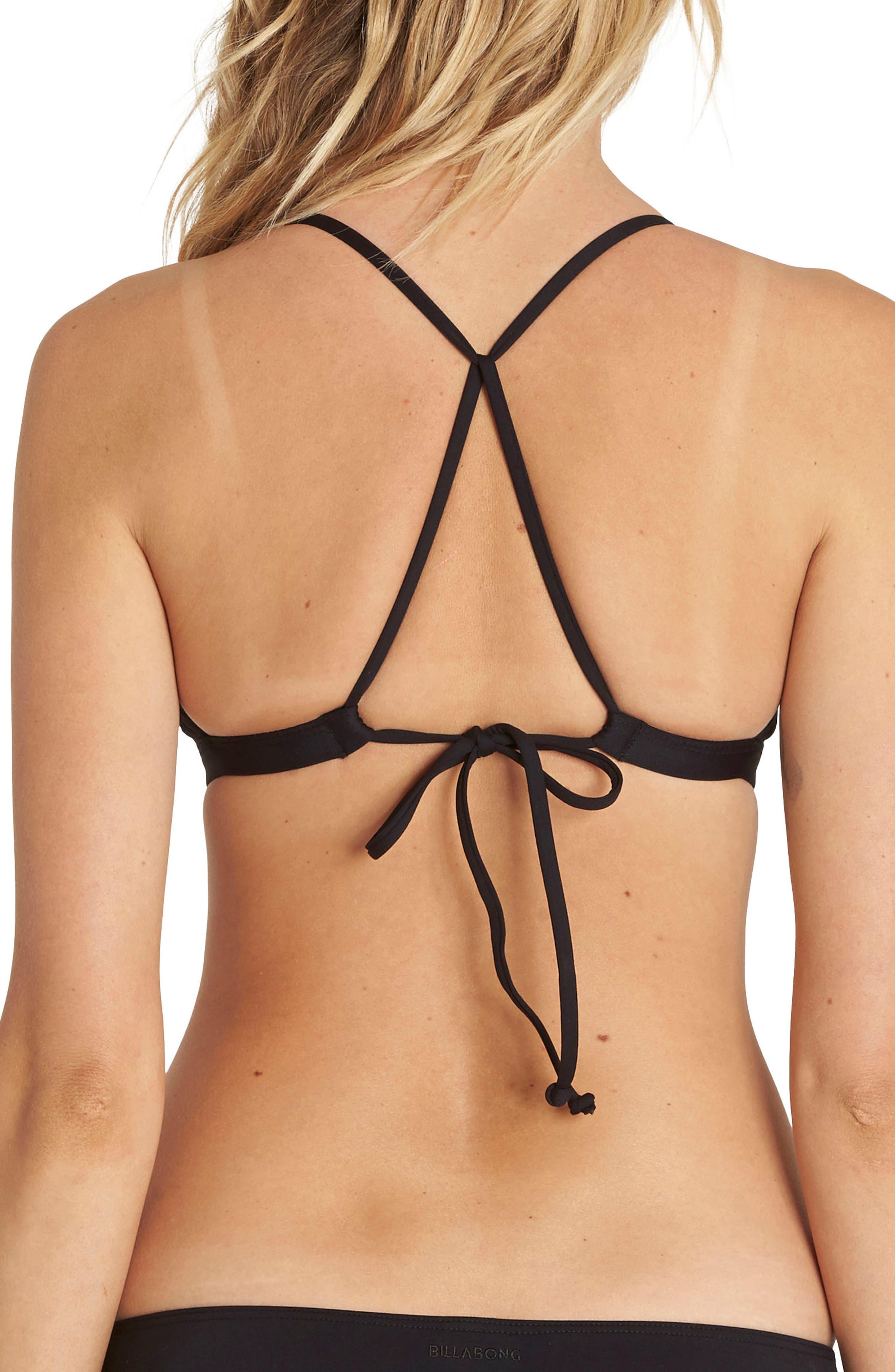 Sol Searcher Fix Triangle Bikini Top,                             Alternate thumbnail 2, color,                             001
