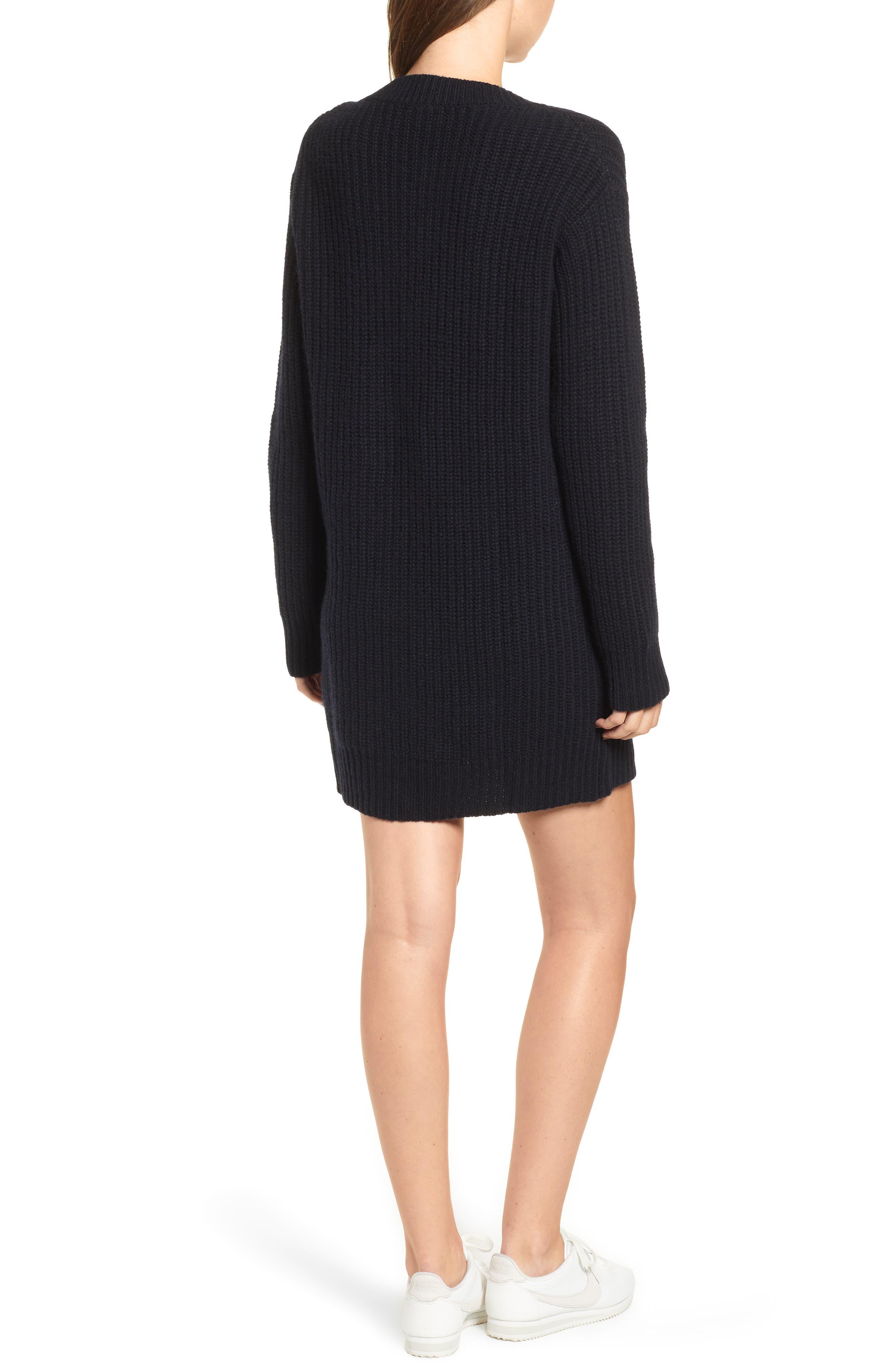 Nicole Velvet Tie Sweater Dress,                             Alternate thumbnail 2, color,                             400