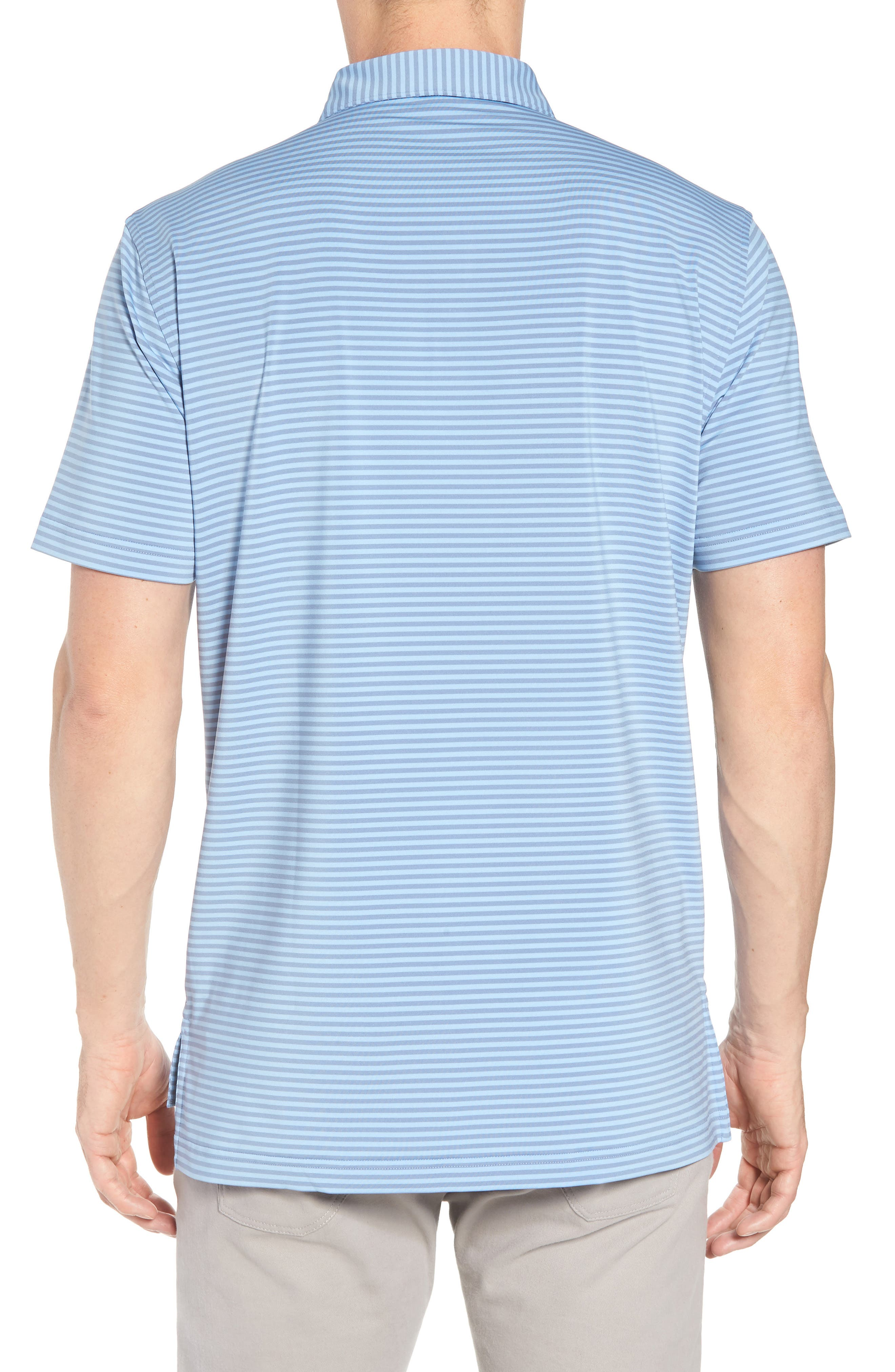 Competition Stripe Stretch Jersey Polo,                             Alternate thumbnail 2, color,                             COTTAGE BLUE