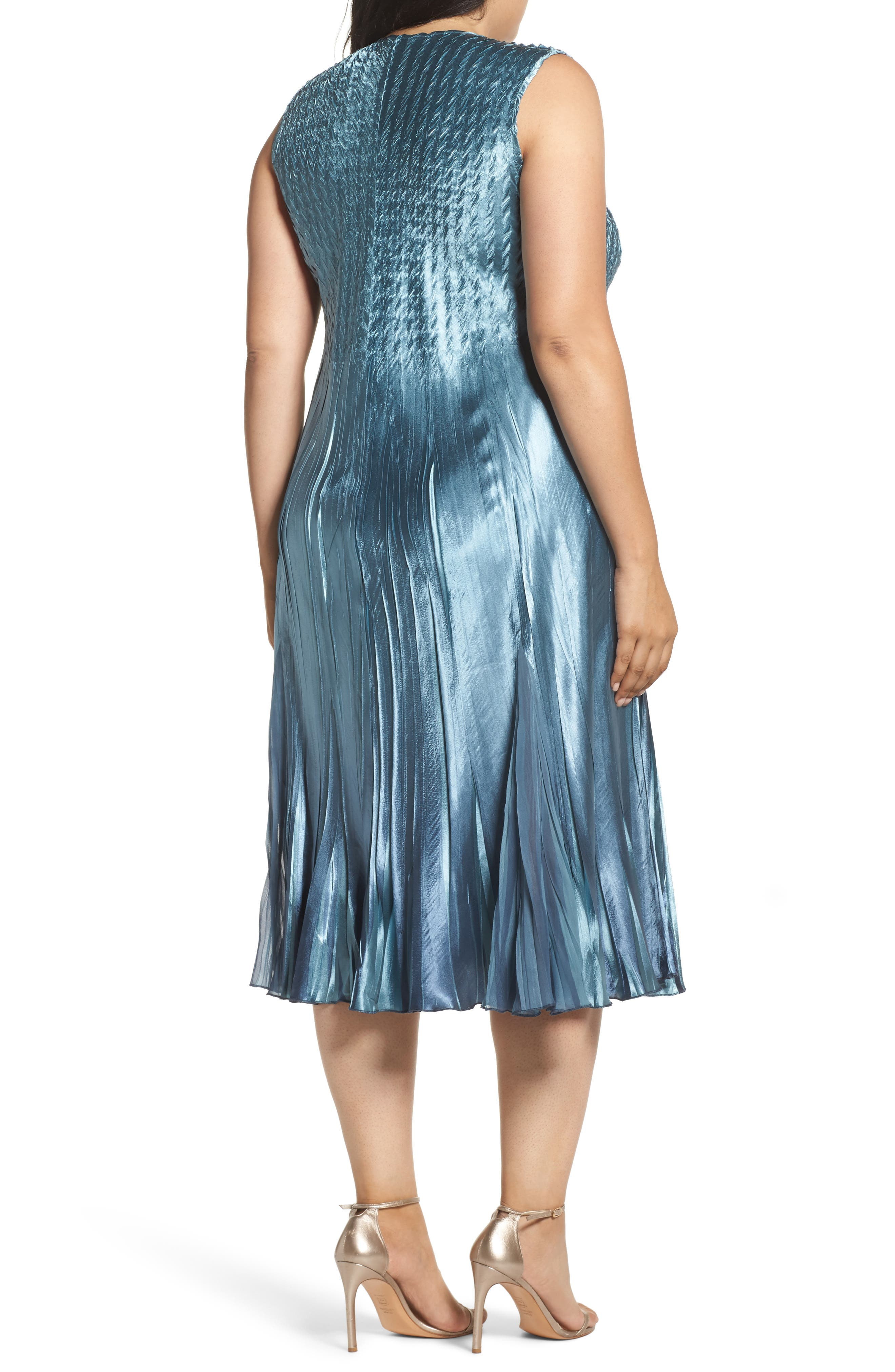 Embellished Charmeuse & Chiffon Dress with Jacket,                             Alternate thumbnail 4, color,                             460