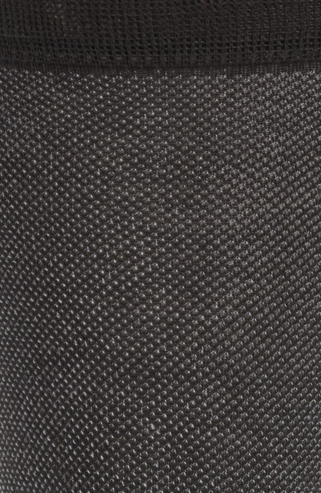 Piqué Texture Crew Socks,                             Alternate thumbnail 4, color,                             BLACK