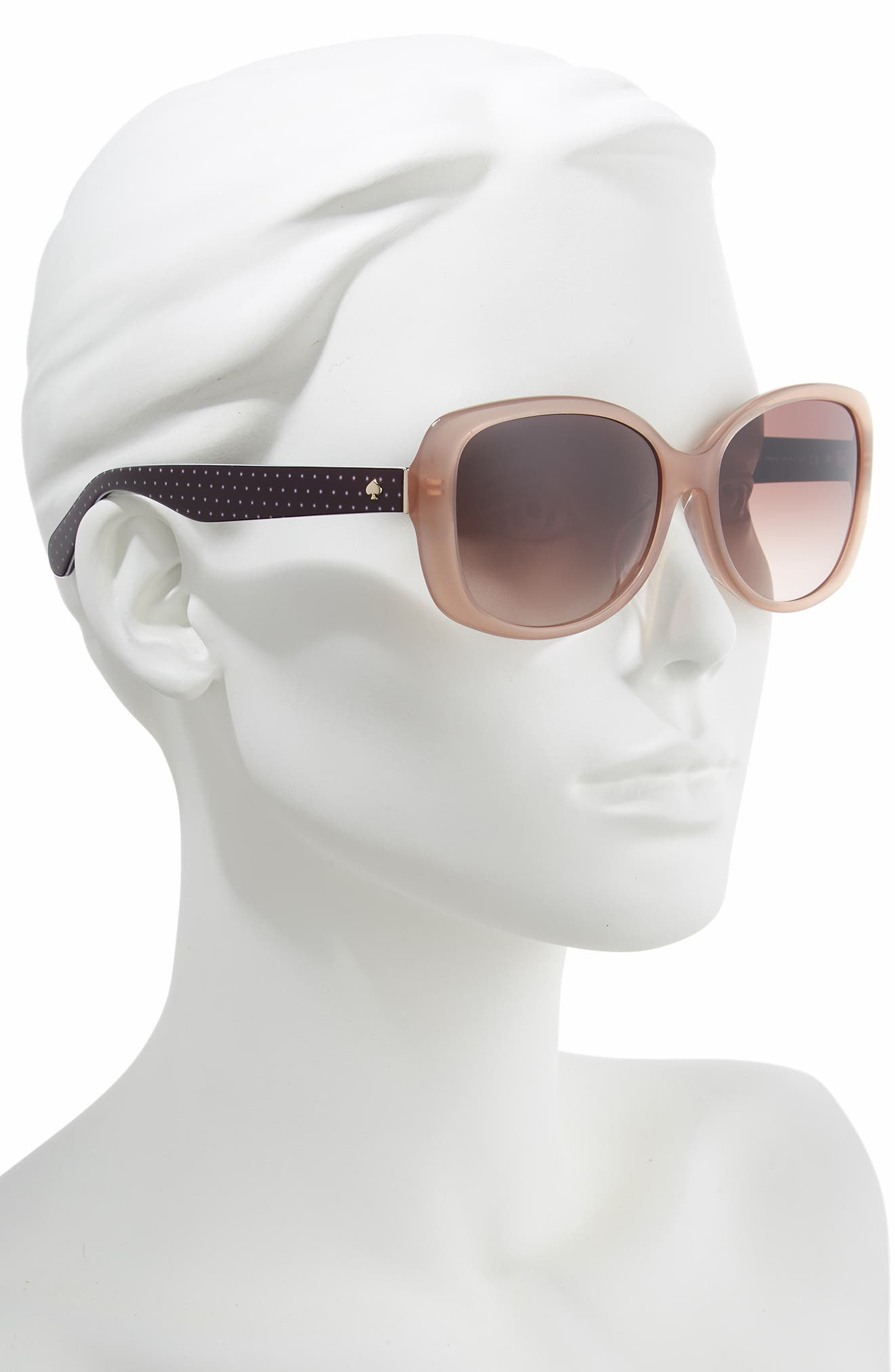 amberlyn 57mm special fit square sunglasses,                             Alternate thumbnail 2, color,                             NUDE