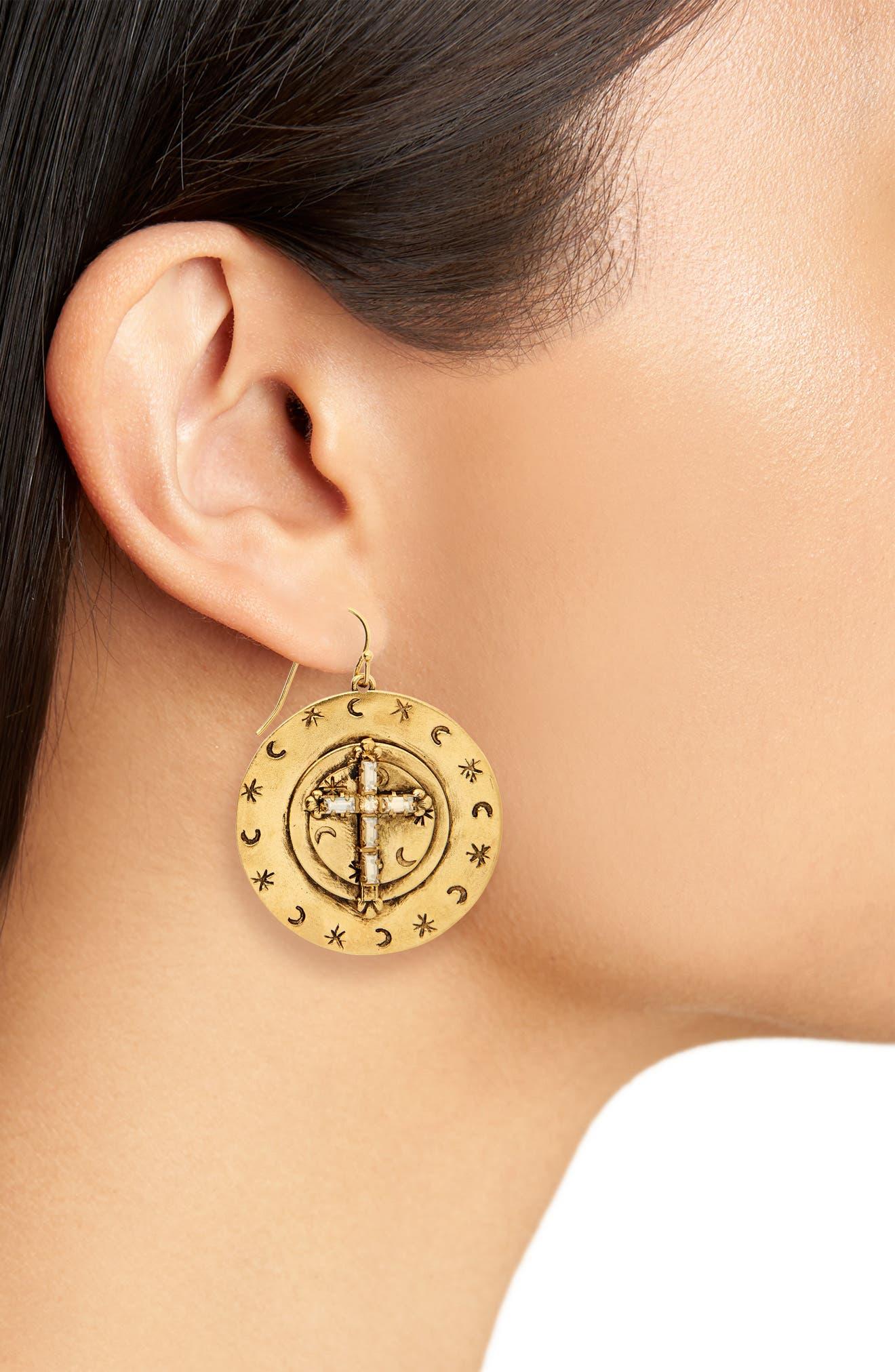 Mother Goddess Apogee Earrings,                             Alternate thumbnail 2, color,                             GOLD