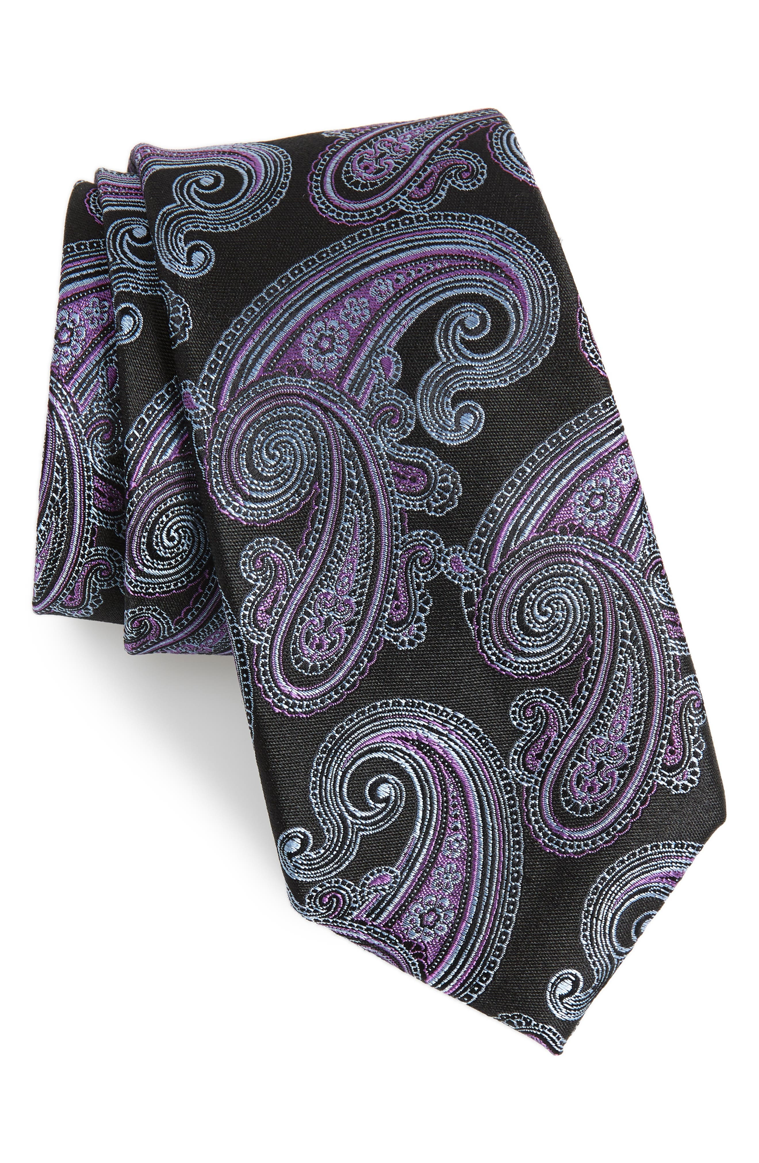 Swanee Paisley Silk Tie,                             Main thumbnail 1, color,                             001