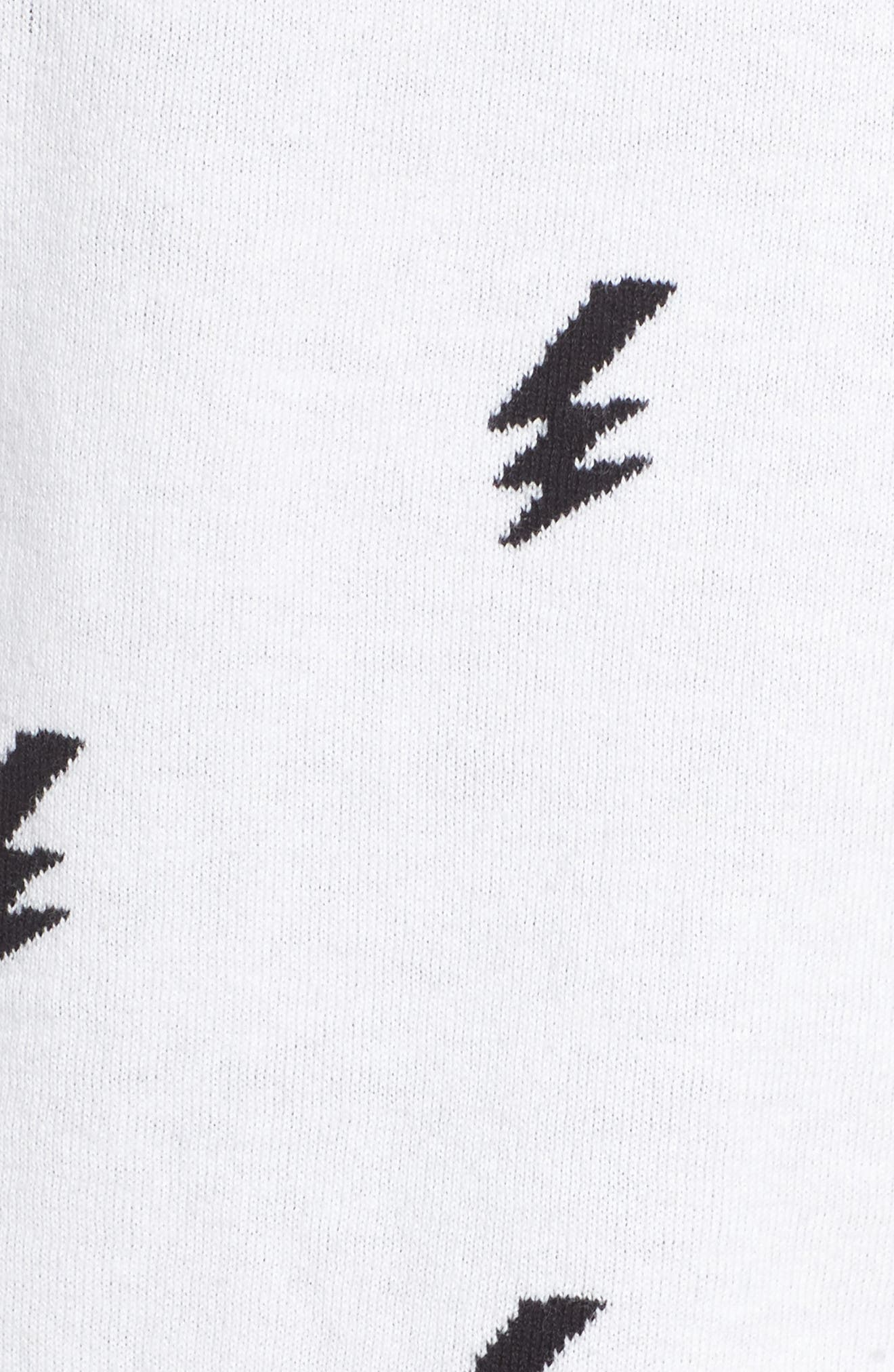 Lightning Intarsia Sweater,                             Alternate thumbnail 5, color,                             102