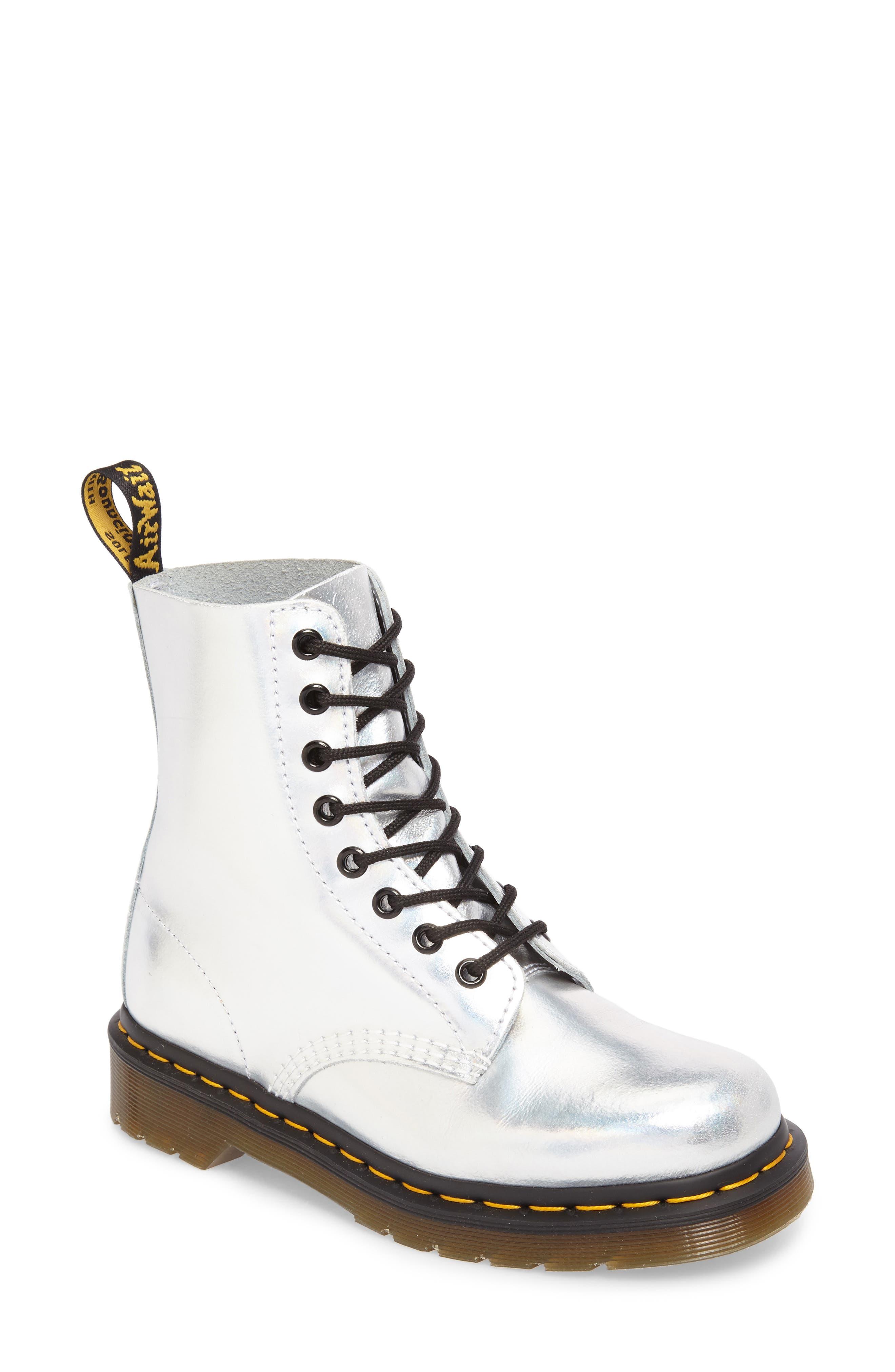 Pascal Metallic Combat Boot,                         Main,                         color,